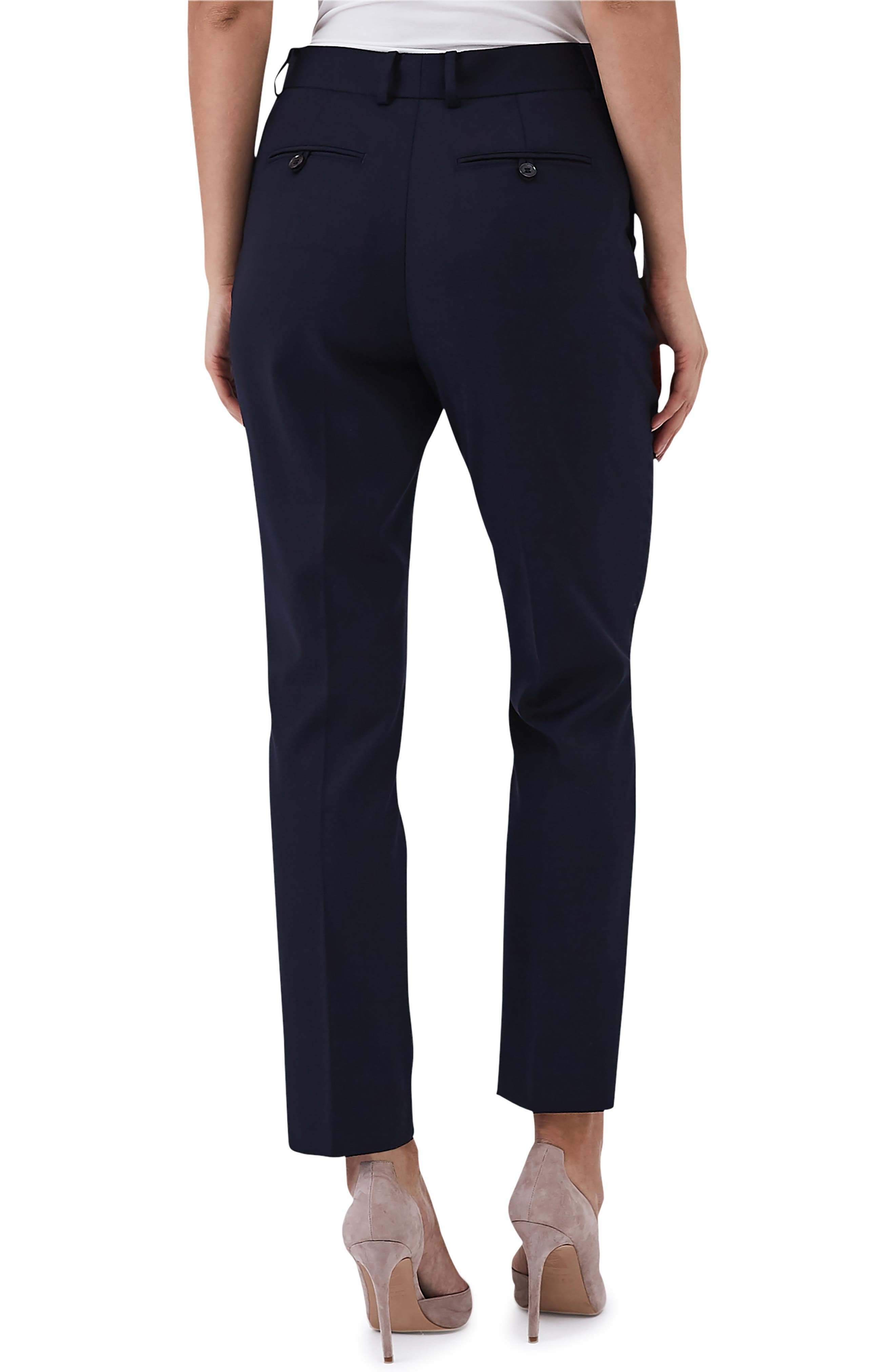 Fenton Stretch Wool Blend Slim Pants,                             Alternate thumbnail 2, color,                             NAVY