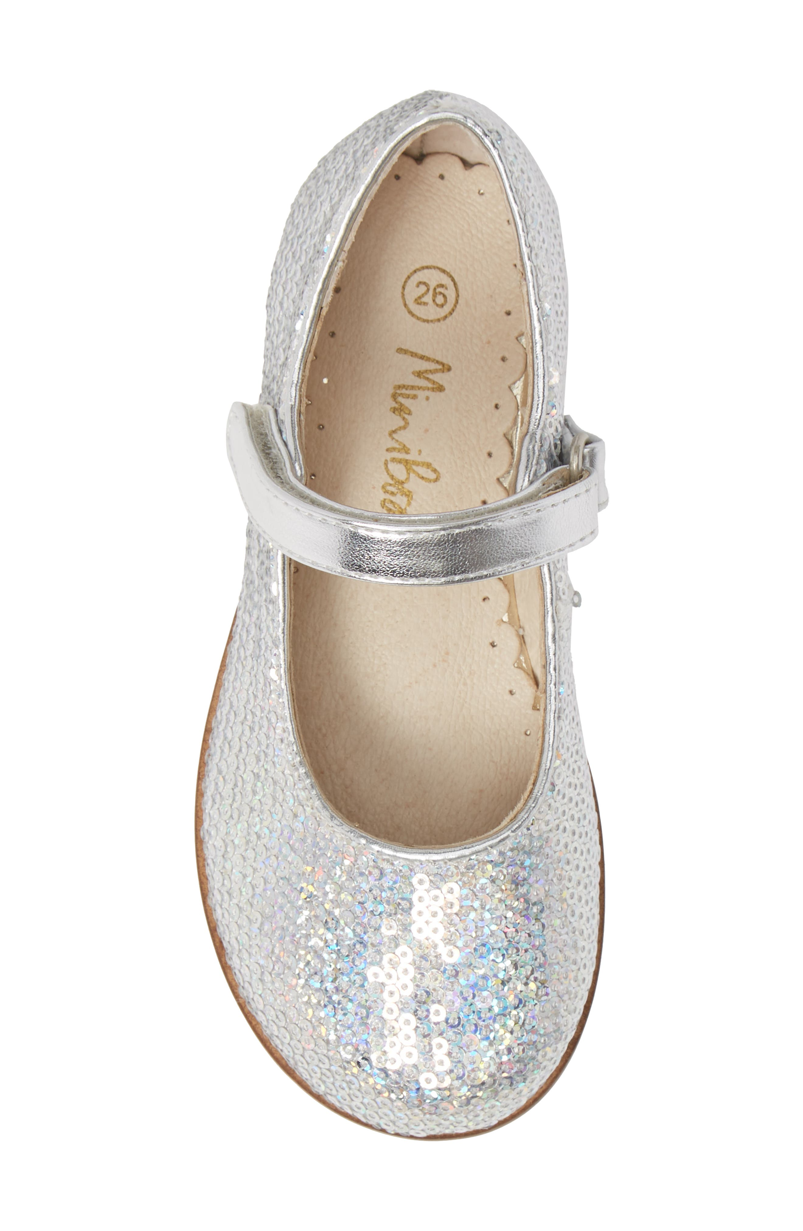Sequin Mary Jane,                             Alternate thumbnail 5, color,                             IRIDESCENT SILVER