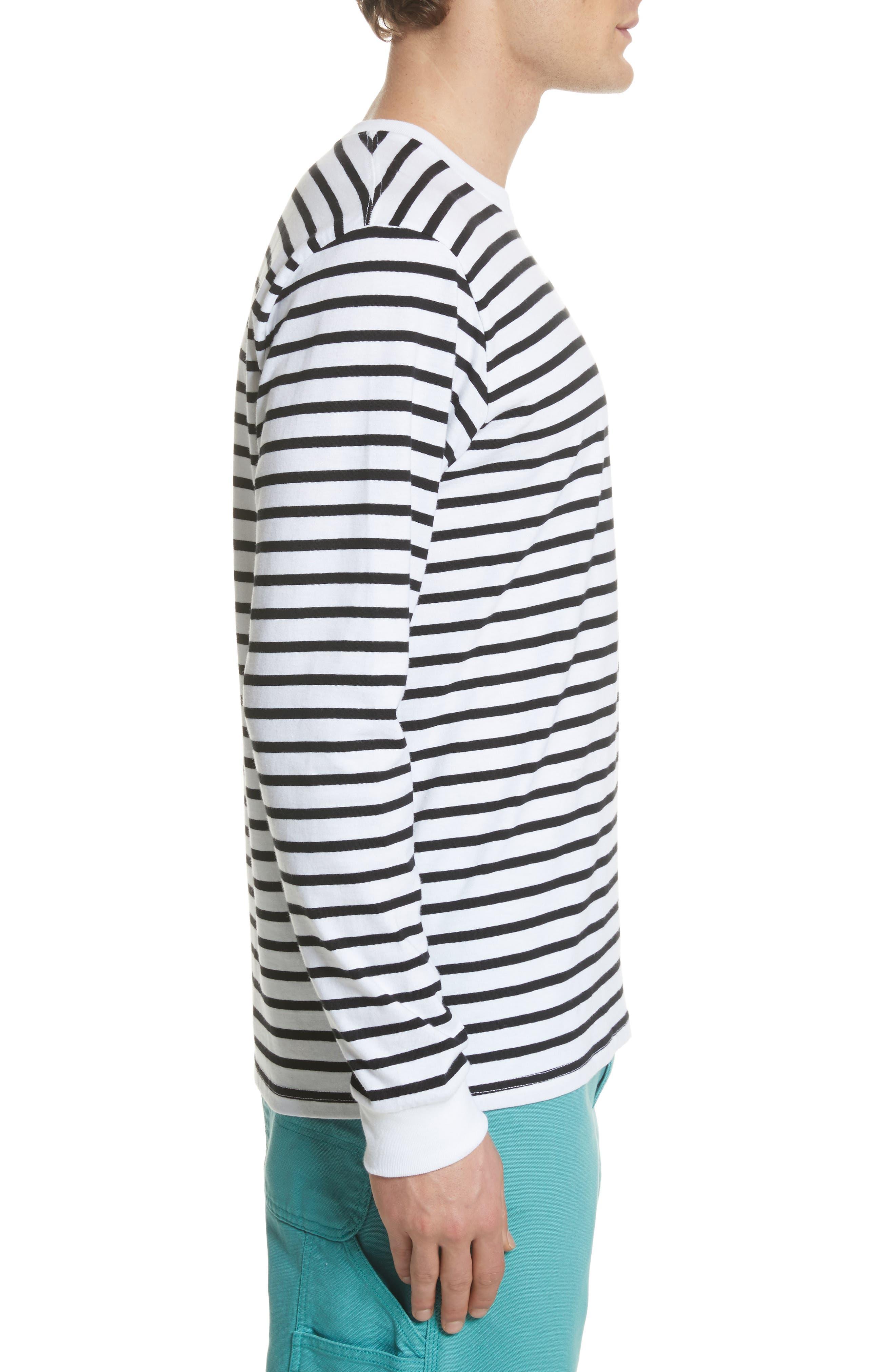 Stripe Long Sleeve T-Shirt,                             Alternate thumbnail 3, color,