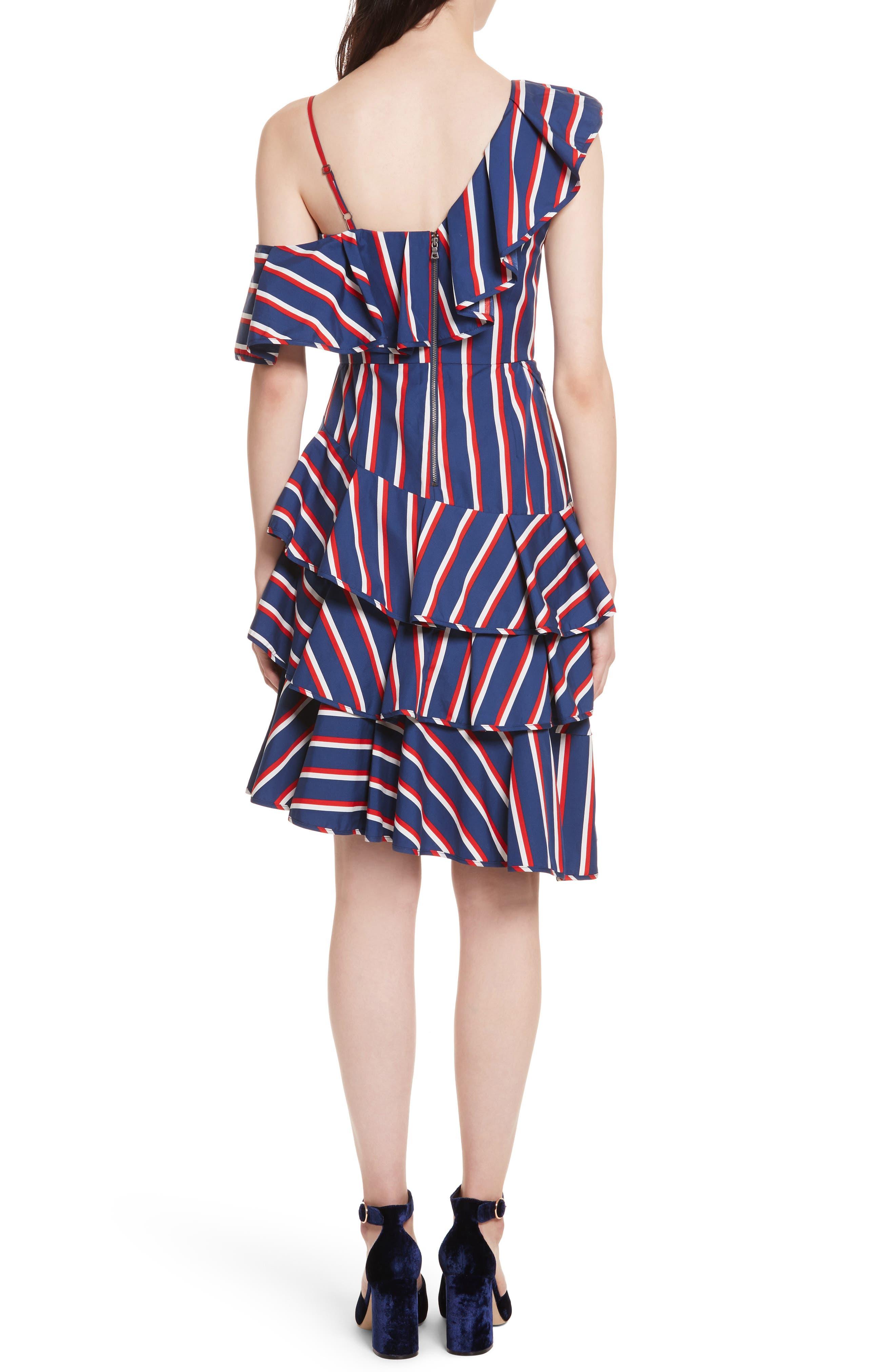 Laflora Aymmetrical Ruffle Midi Dress,                             Alternate thumbnail 2, color,                             475