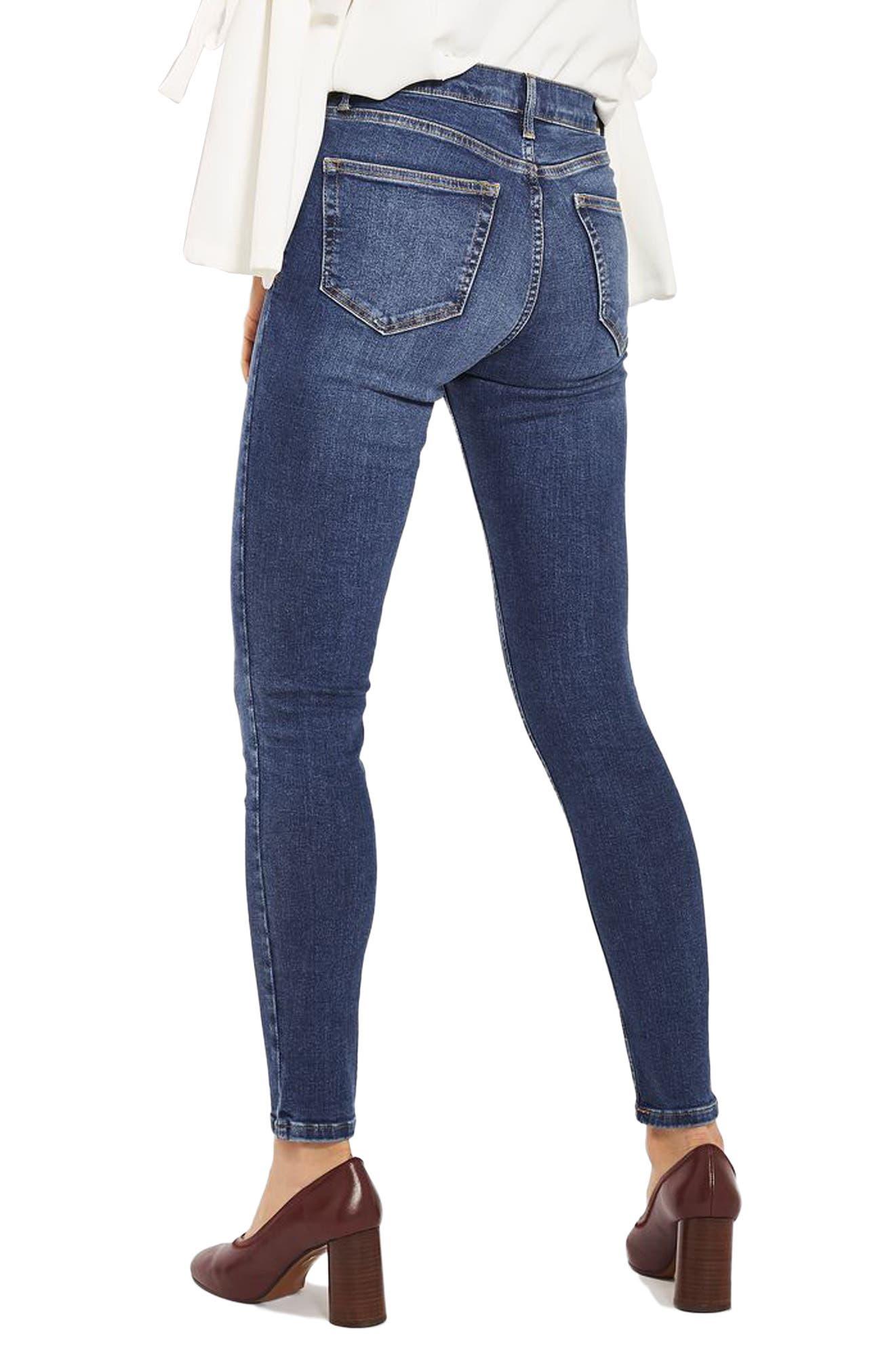 Jamie Indigo High Waist Skinny Jeans,                             Alternate thumbnail 2, color,