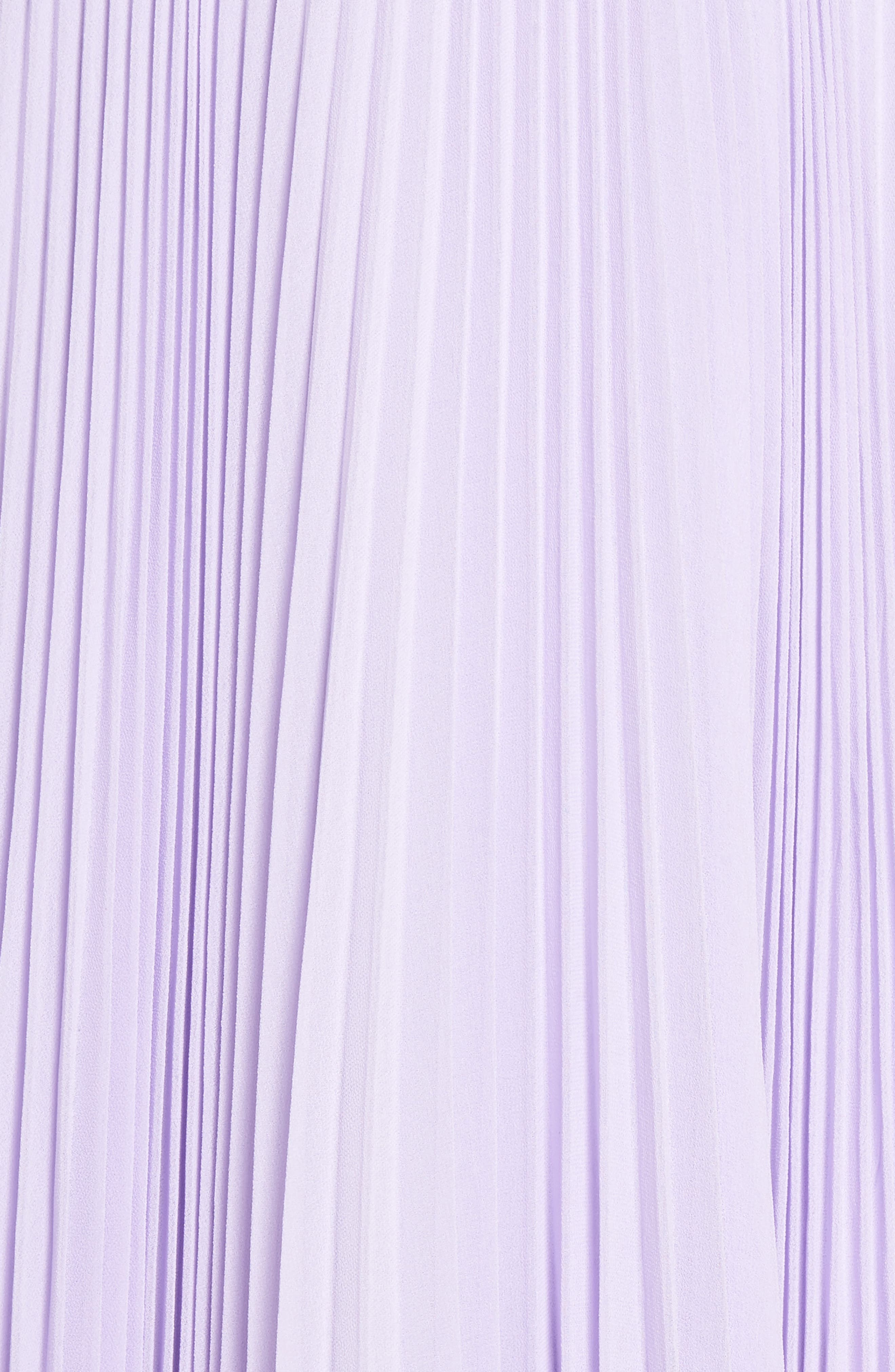 Fame & Partners The Peyton Pleated Gown,                             Alternate thumbnail 6, color,                             LILAC