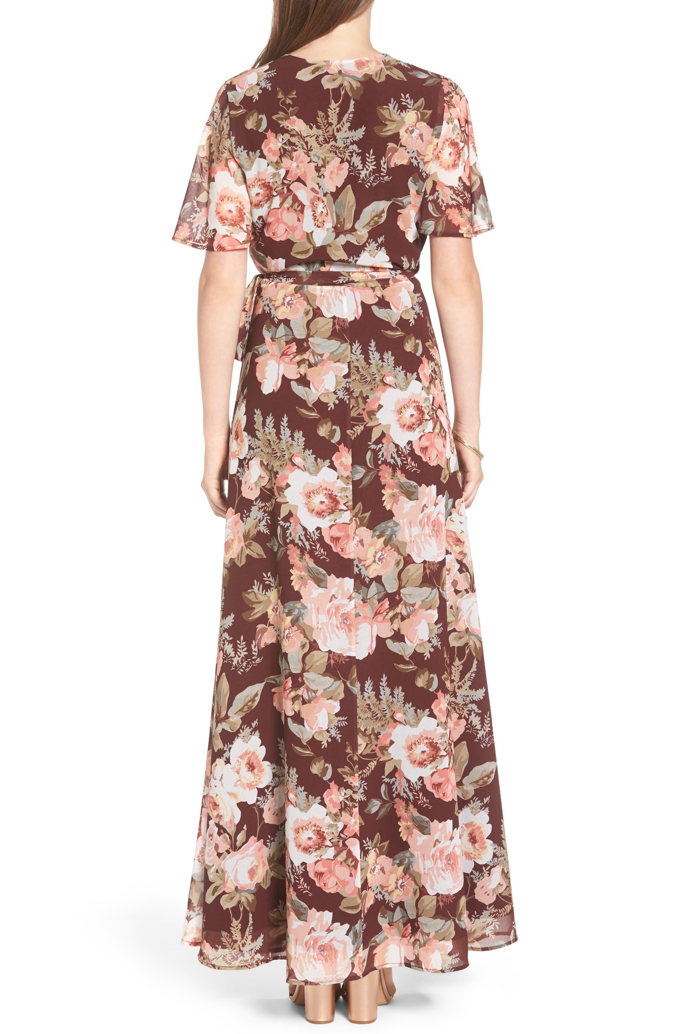 Plaza Wrap Maxi Dress,                             Alternate thumbnail 4, color,