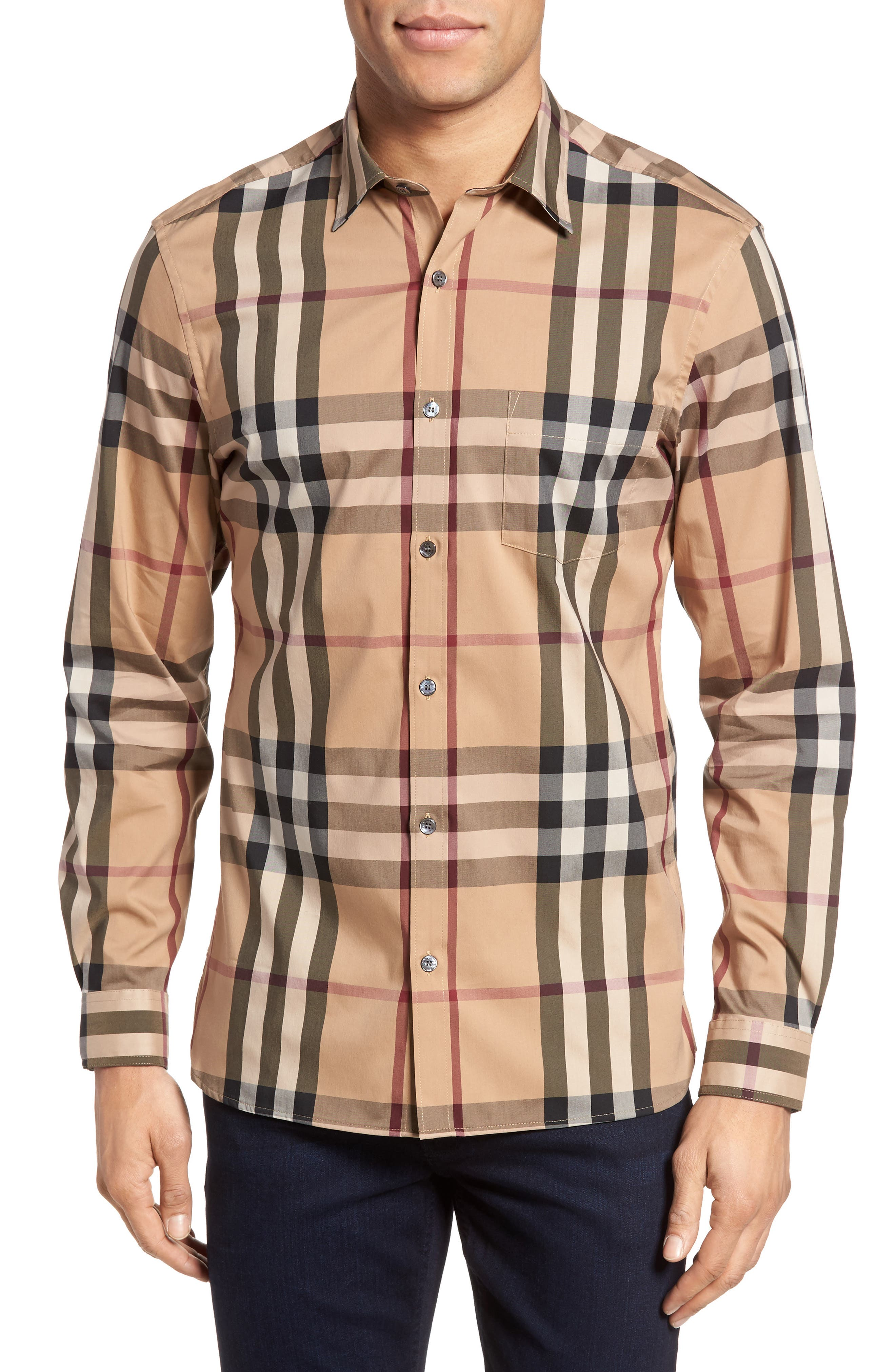 Nelson Check Sport Shirt,                             Main thumbnail 8, color,