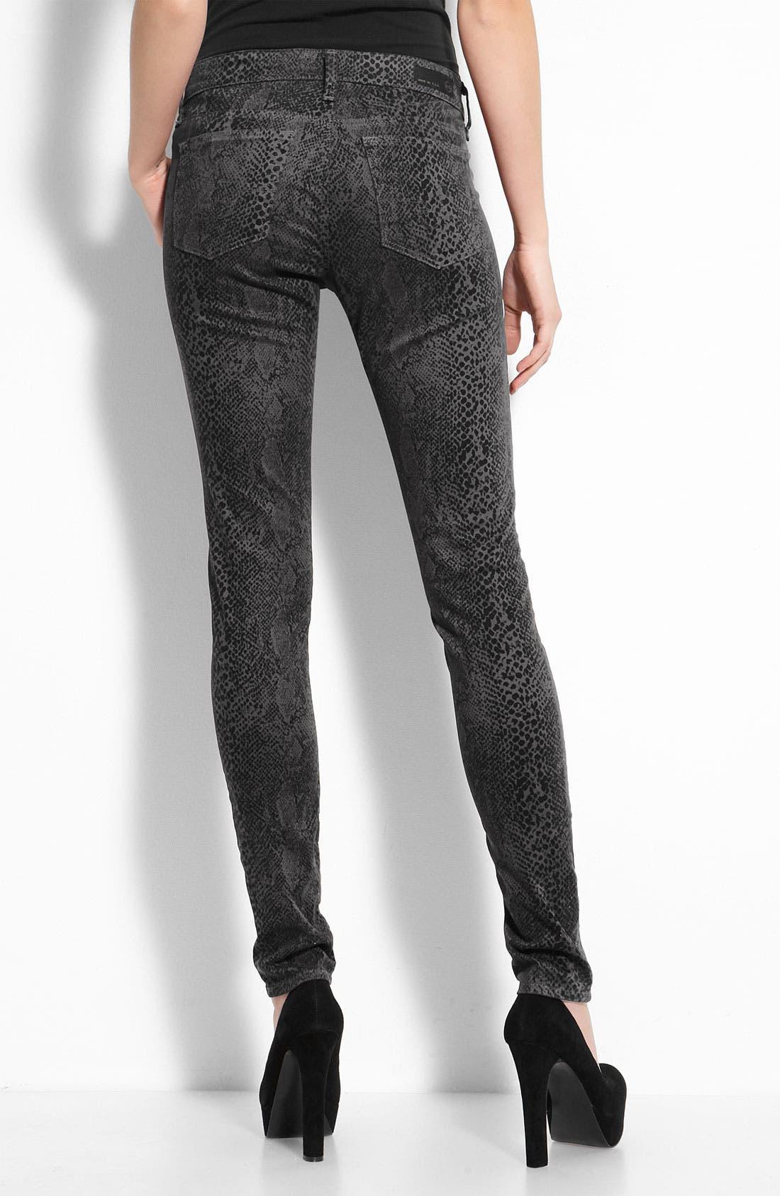 Jeans Sateen Snake Print Leggings,                         Main,                         color, 020