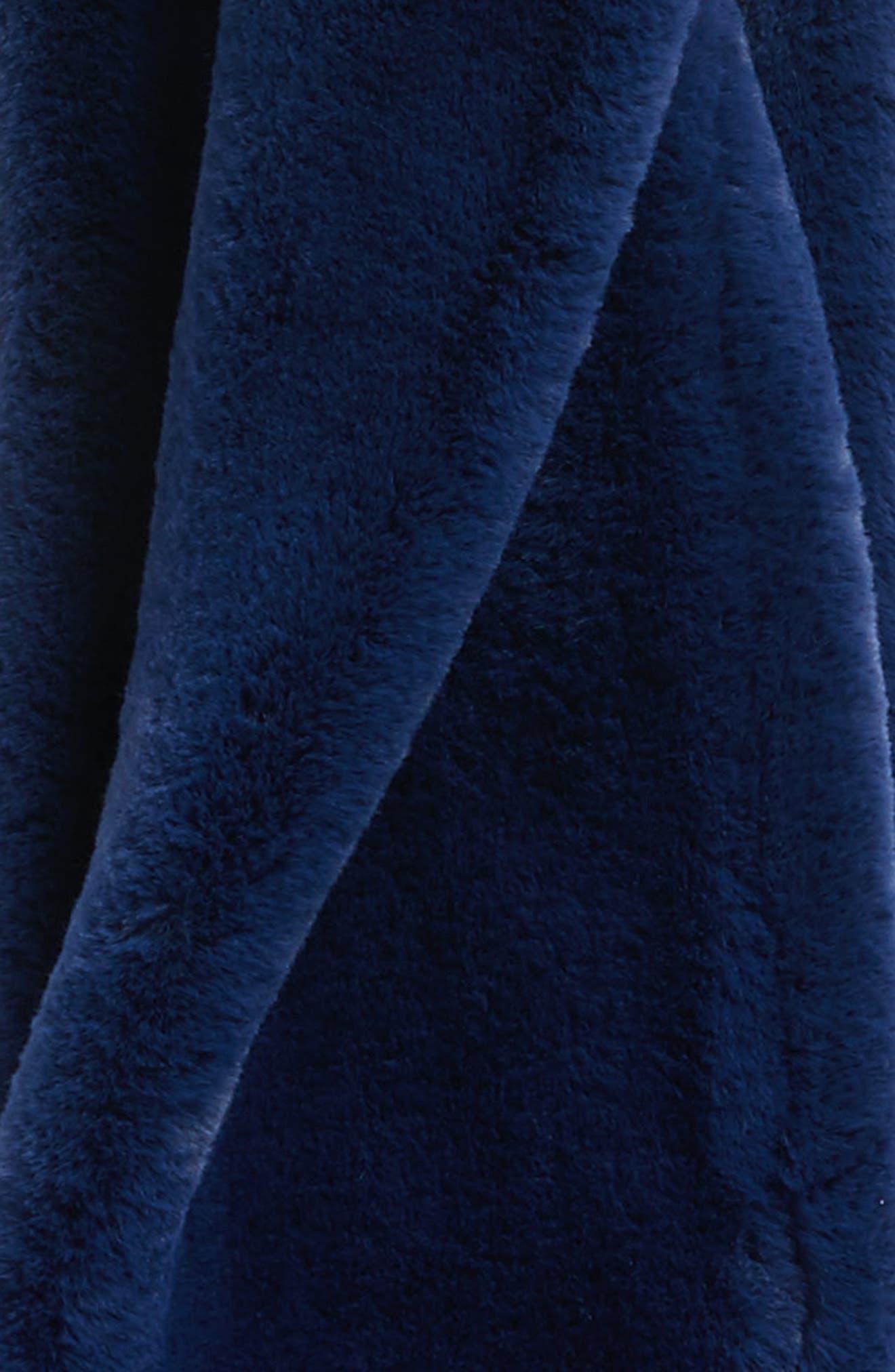 Faux Fur Infinity Scarf,                             Alternate thumbnail 4, color,                             BLUE