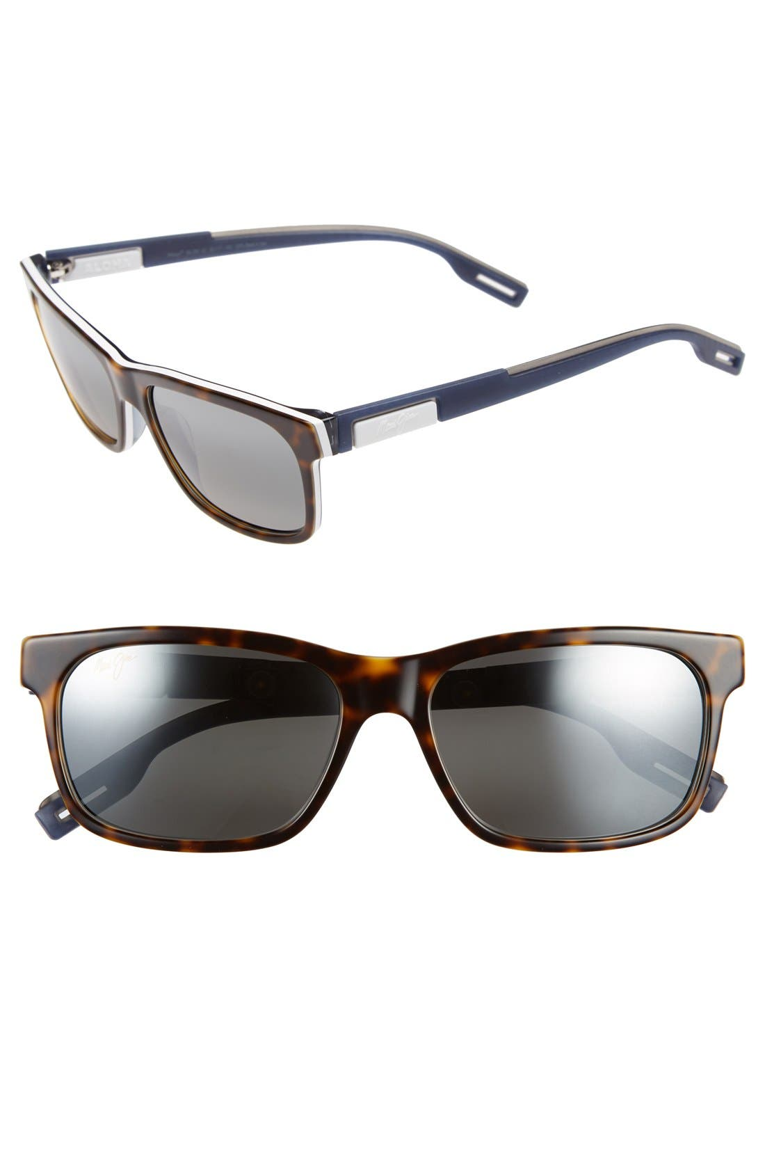 Eh Brah 55mm PolarizedPlus2<sup>®</sup> Sunglasses,                             Main thumbnail 1, color,                             TORTOISE/ WHITE AND BLUE/ GREY