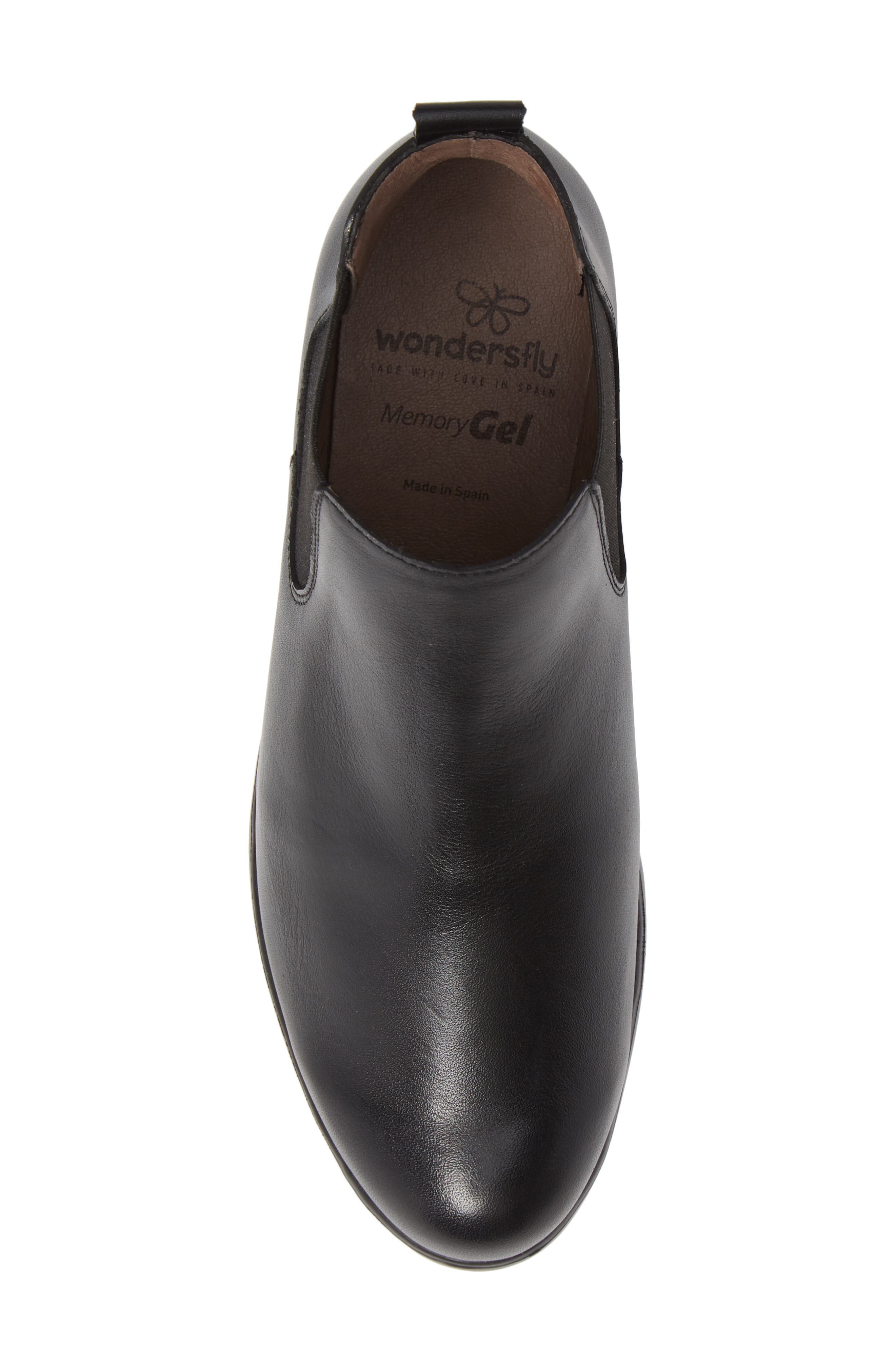 Slip-On Chelsea Boot,                             Alternate thumbnail 5, color,                             BLACK SMOOTH LEATHER