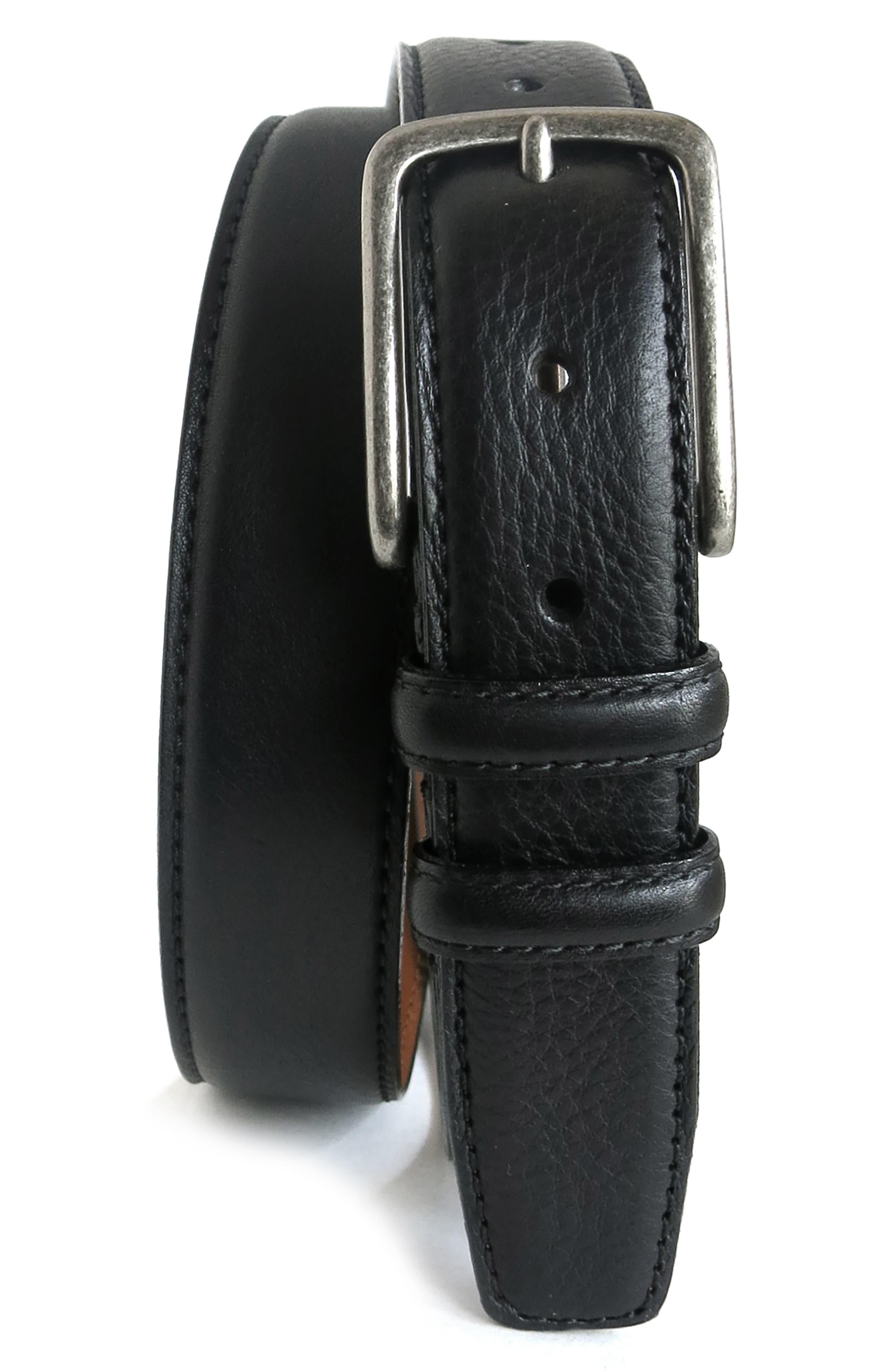 Clapton Leather Belt,                             Alternate thumbnail 2, color,                             BLACK