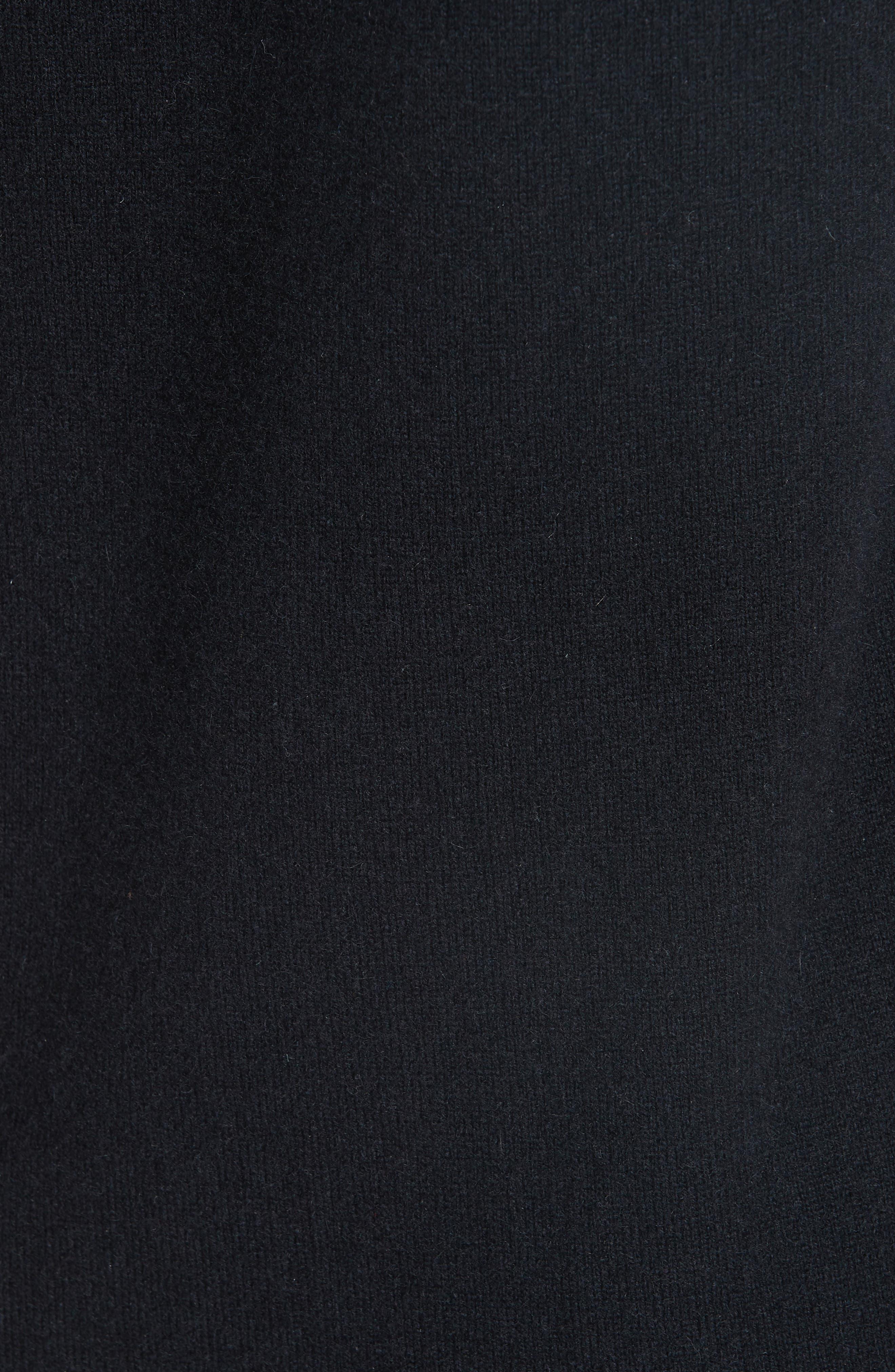 Cashmere Blend Hoodie Dress,                             Alternate thumbnail 6, color,                             BLACK