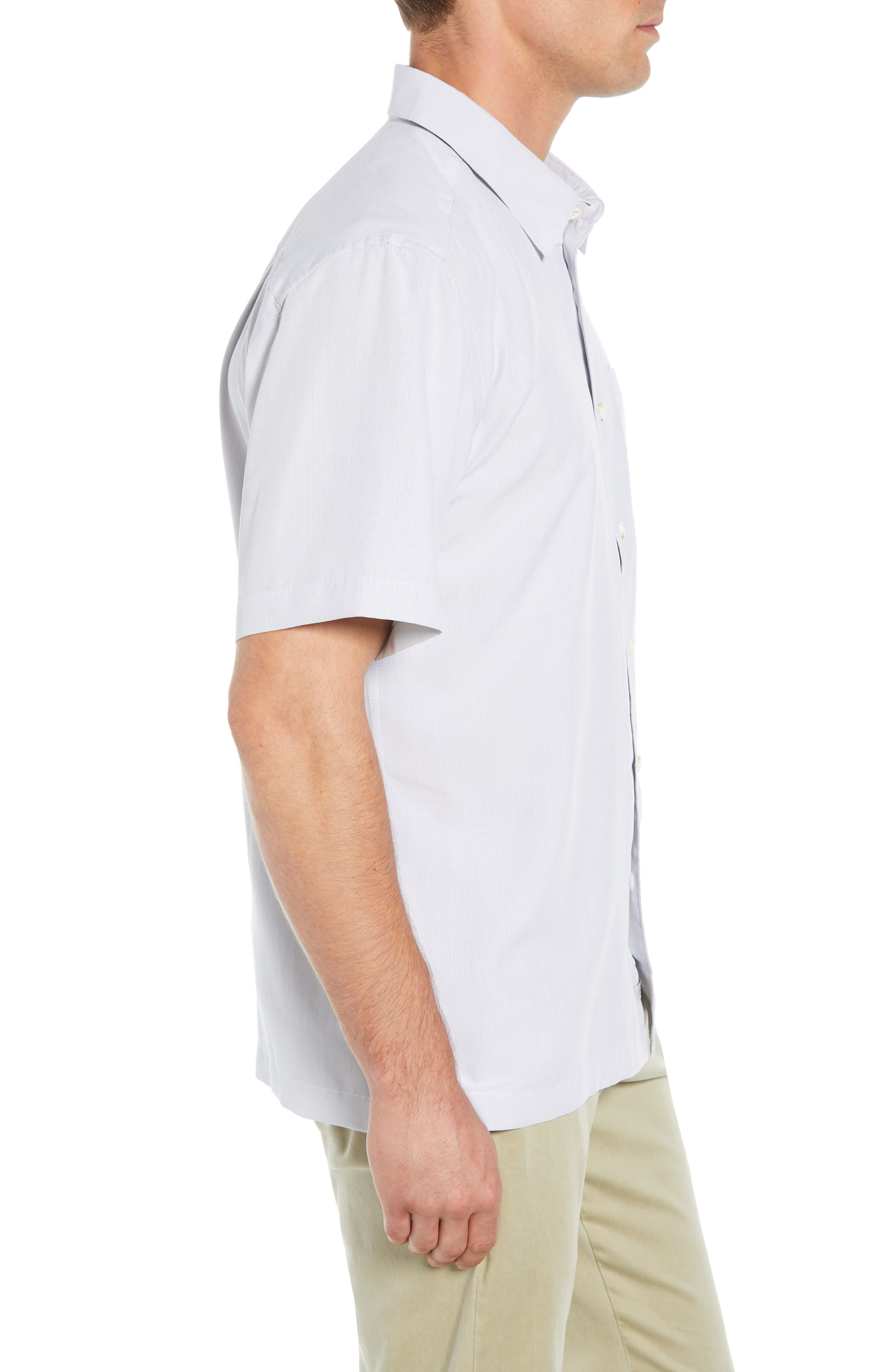 Cane Island Classic Fit Camp Shirt,                             Alternate thumbnail 4, color,                             101