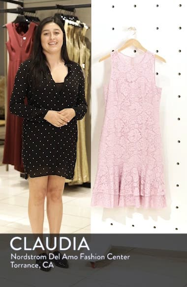 Flounce Hem Lace Dress, sales video thumbnail
