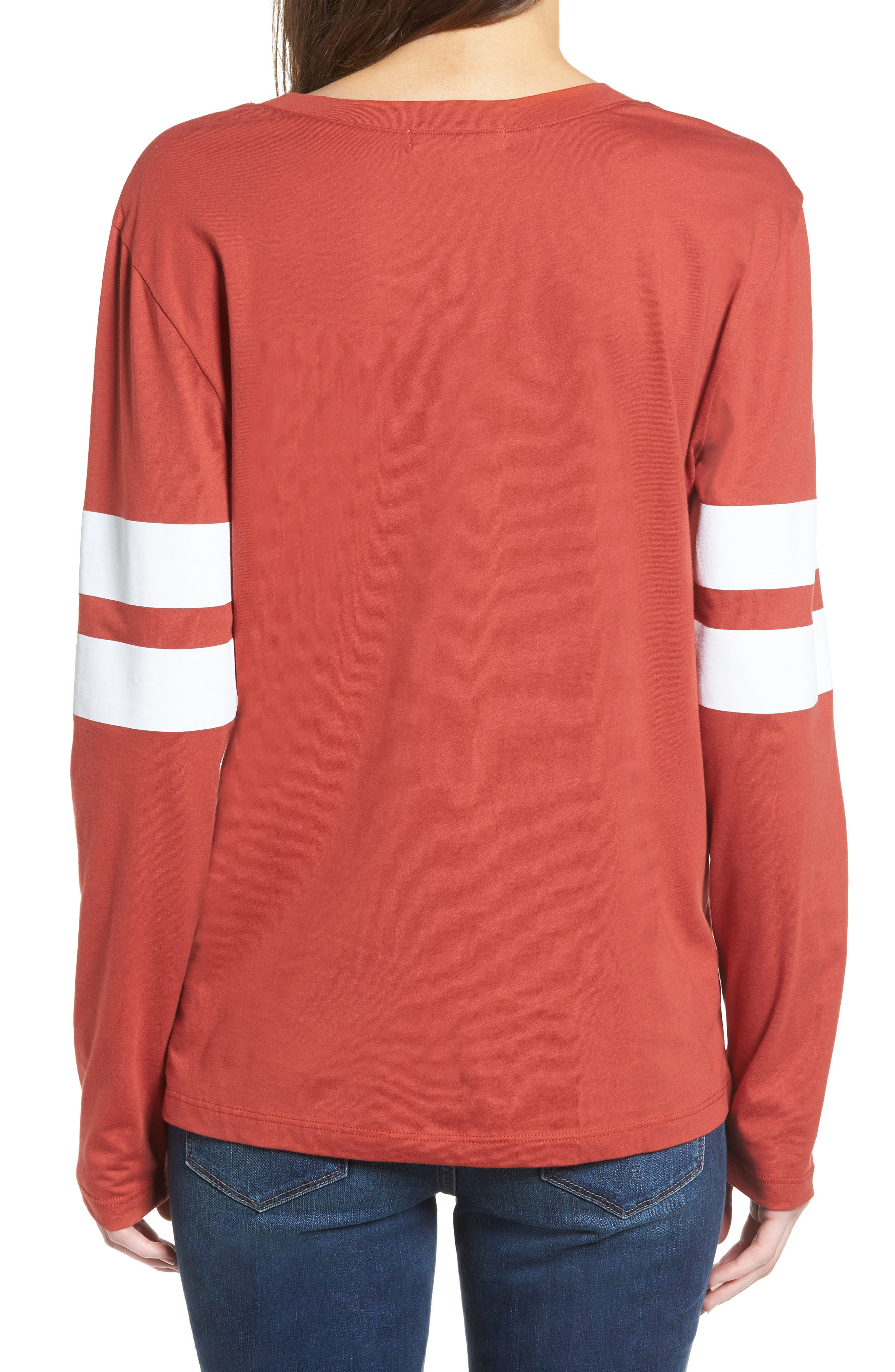 Varsity Stripe Cotton Tee,                             Alternate thumbnail 30, color,