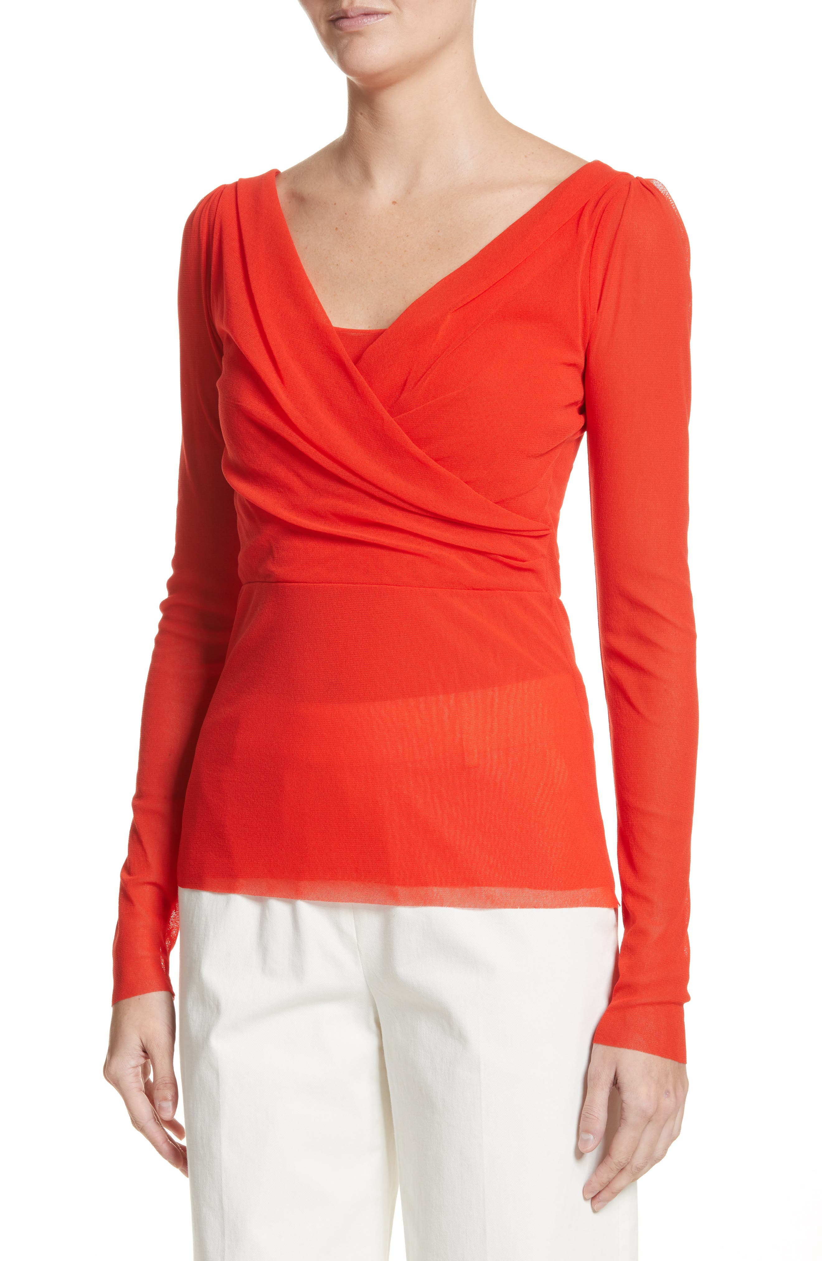 Surplice Neck Top,                             Alternate thumbnail 4, color,                             650