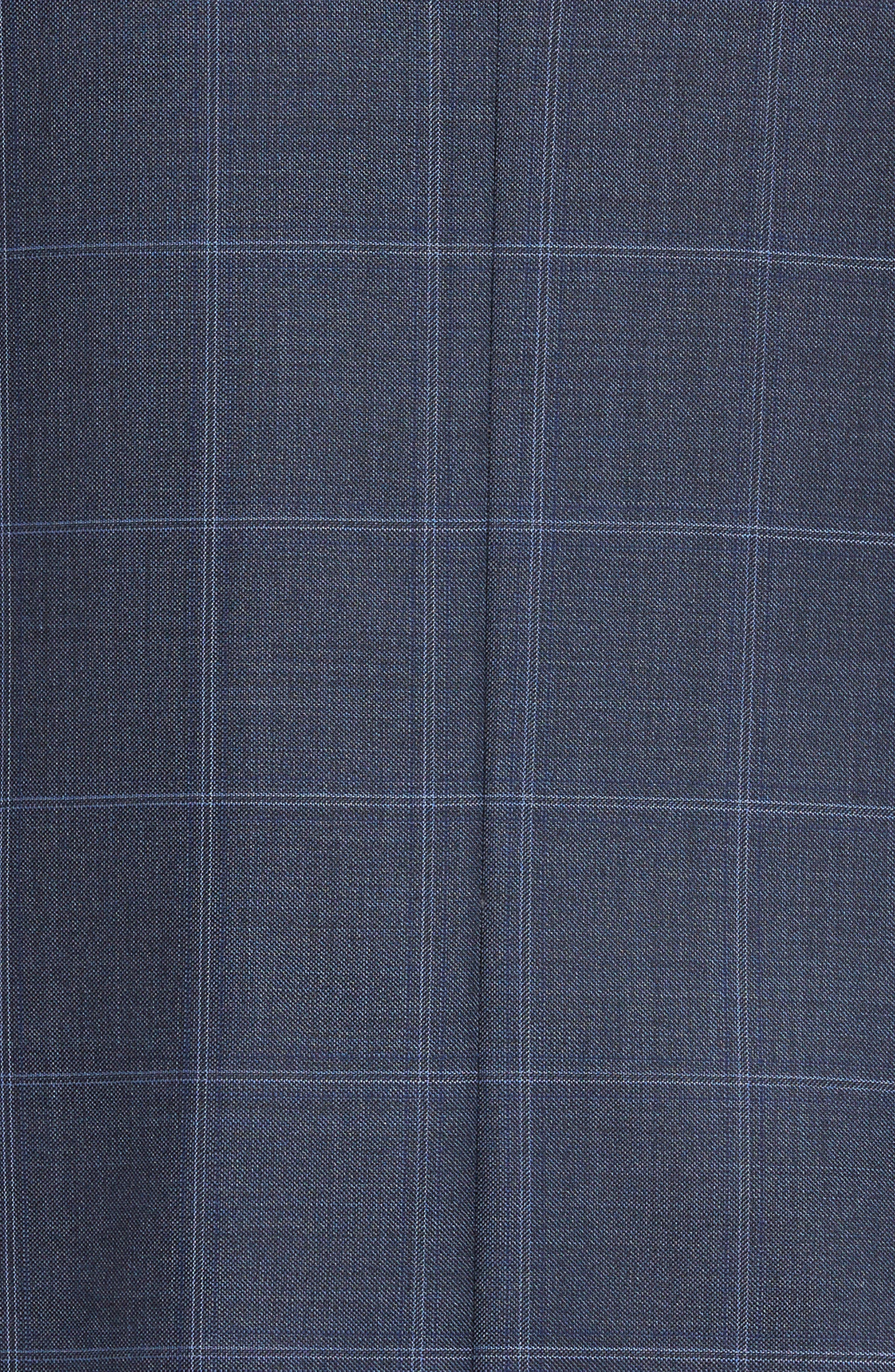 Flynn Classic Fit Windowpane Wool Suit,                             Alternate thumbnail 7, color,