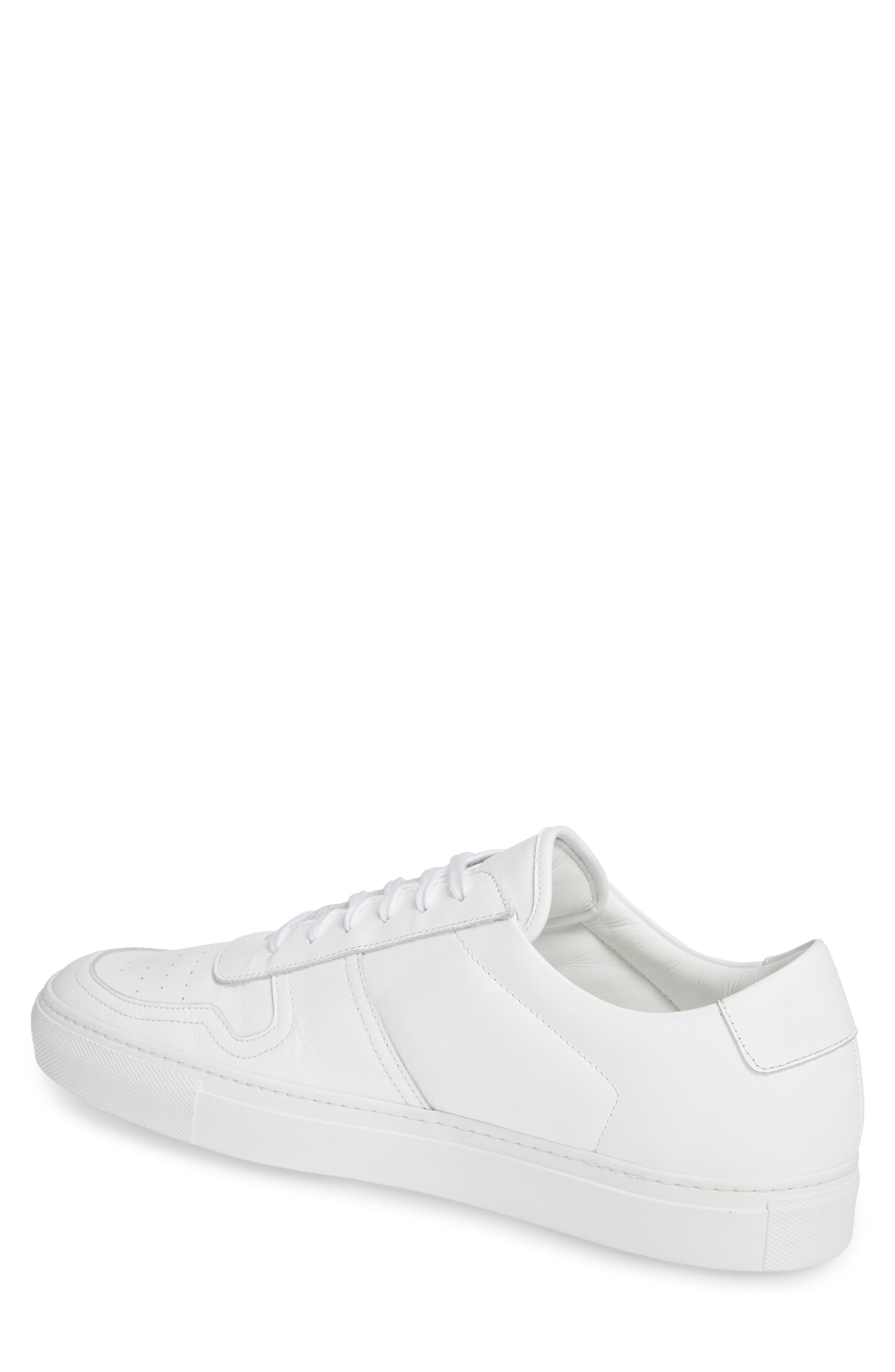 COMMON PROJECTS,                             Bball Low Top Sneaker,                             Alternate thumbnail 2, color,                             WHITE
