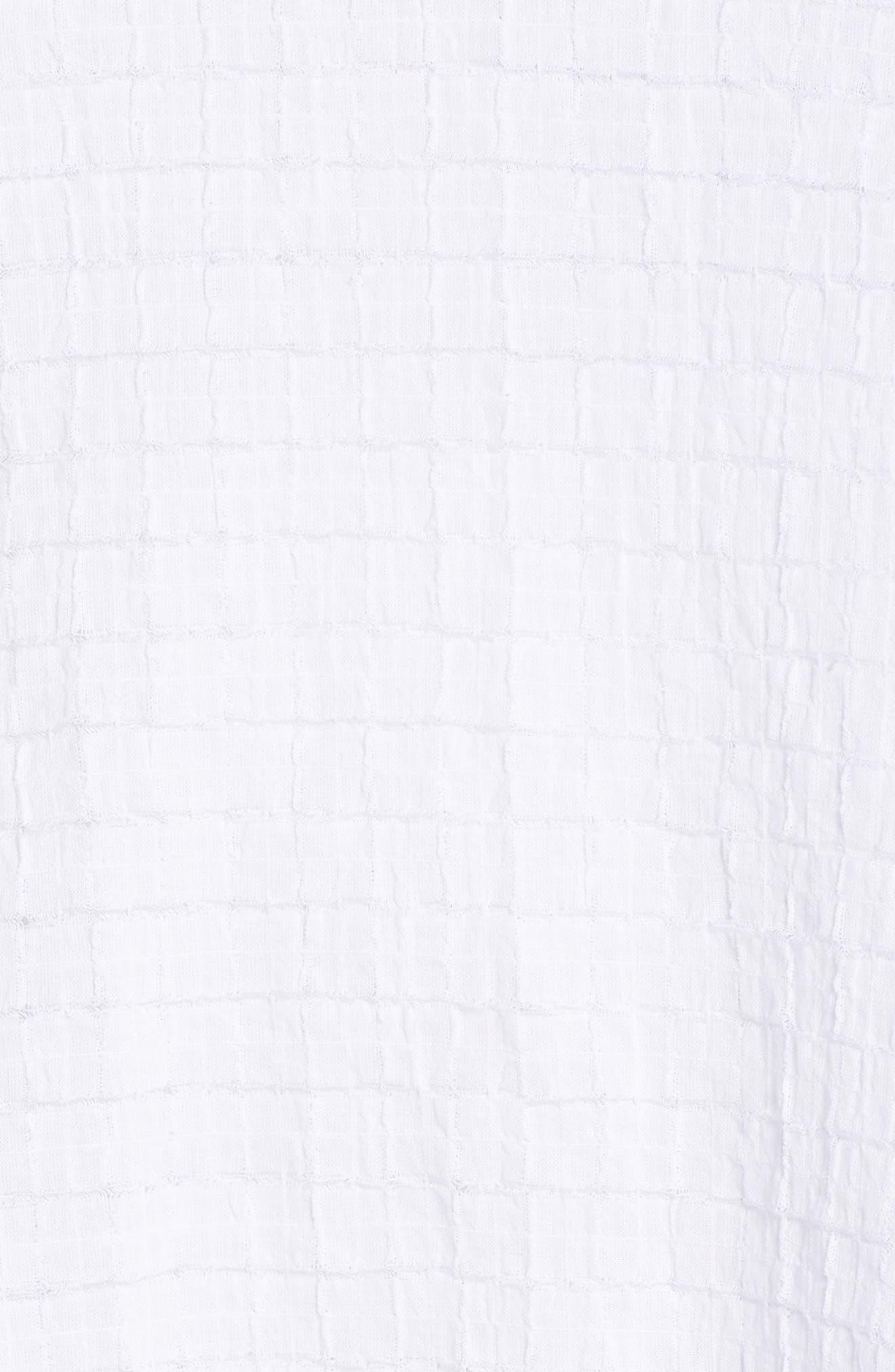 Split Neck Textured Tunic,                             Alternate thumbnail 6, color,                             WHITE