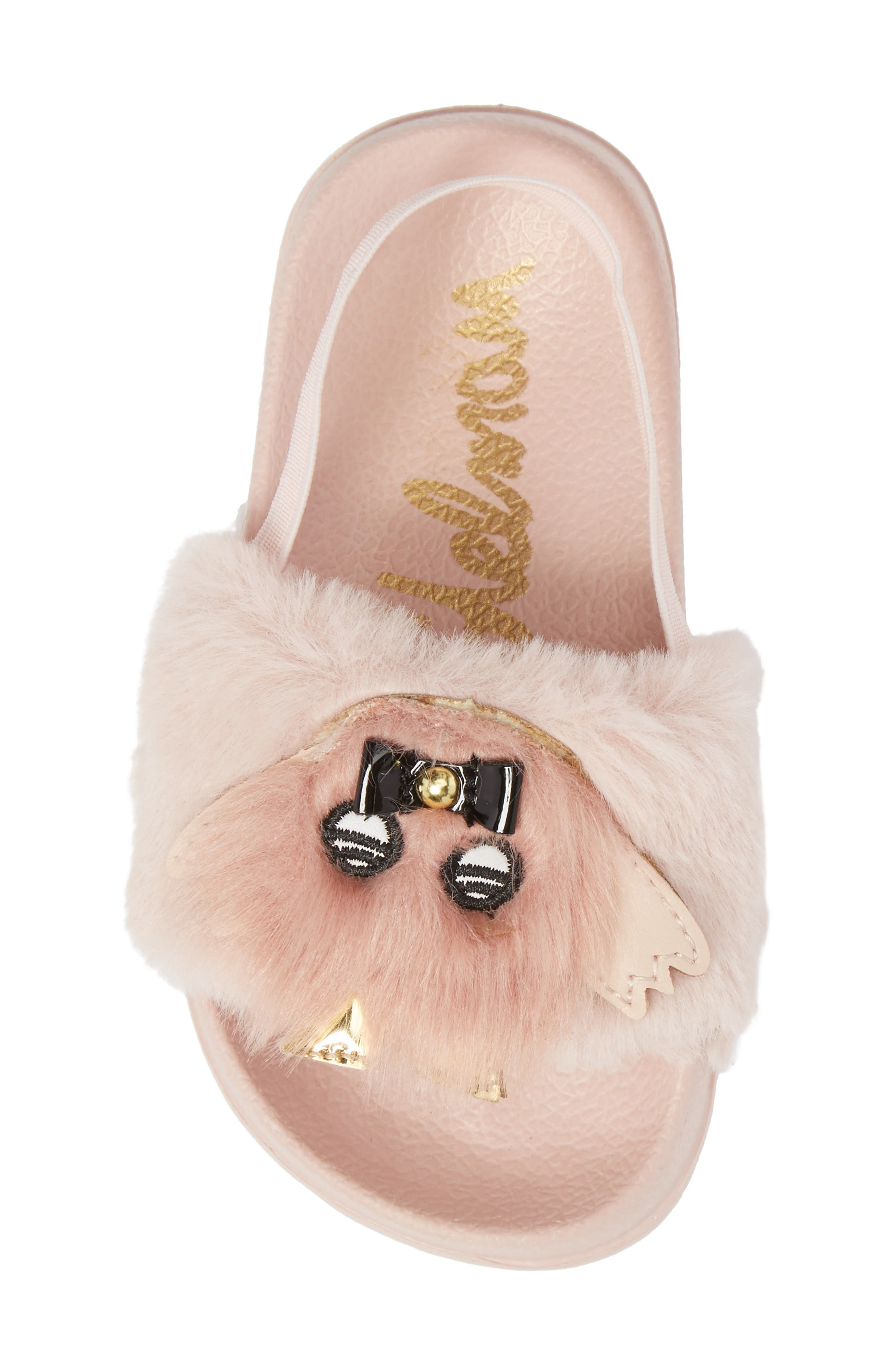 Mackie Faux Fur Sandal,                             Alternate thumbnail 5, color,                             654