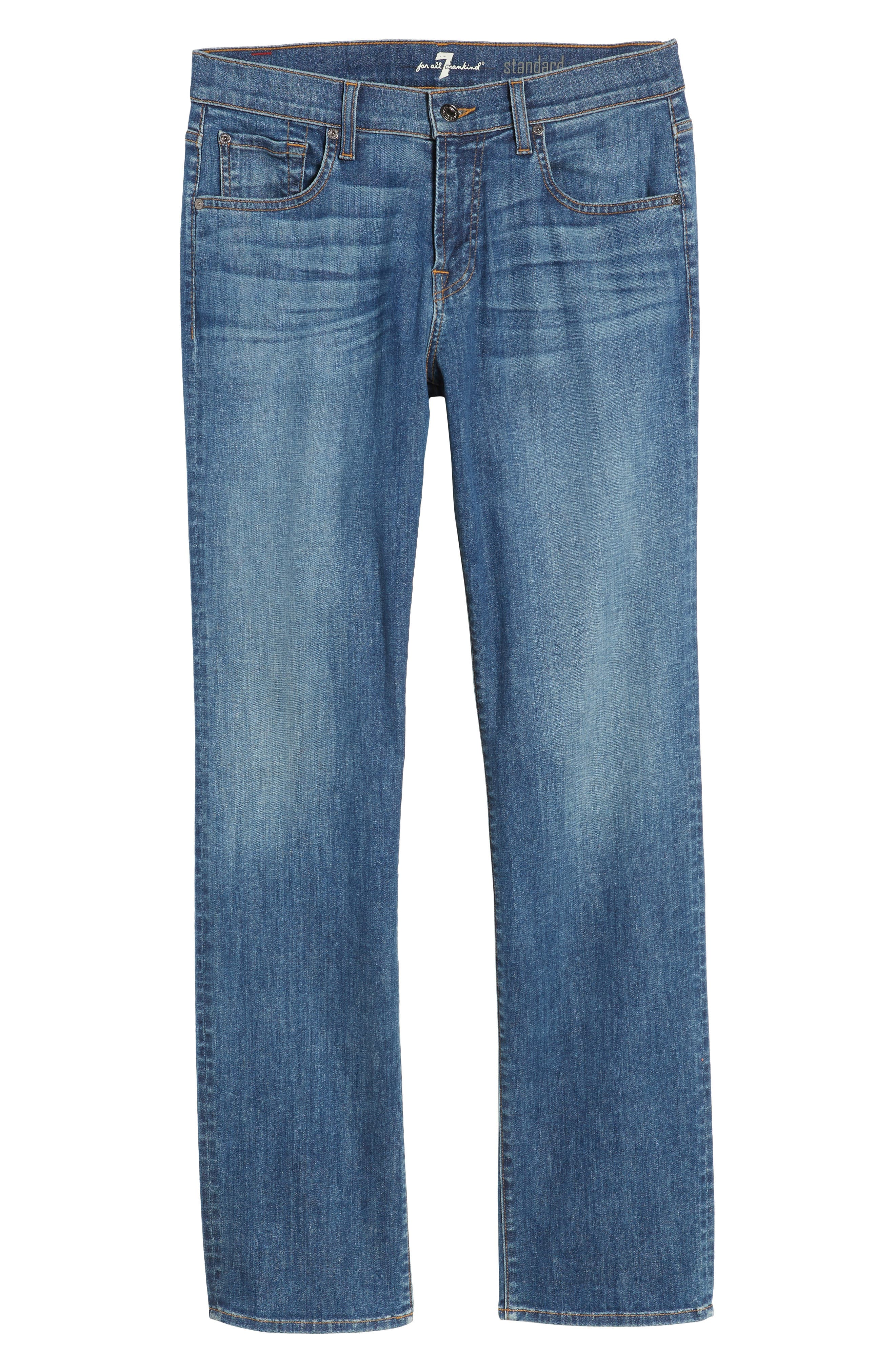 The Standard Straight Fit Jeans,                             Alternate thumbnail 6, color,                             401