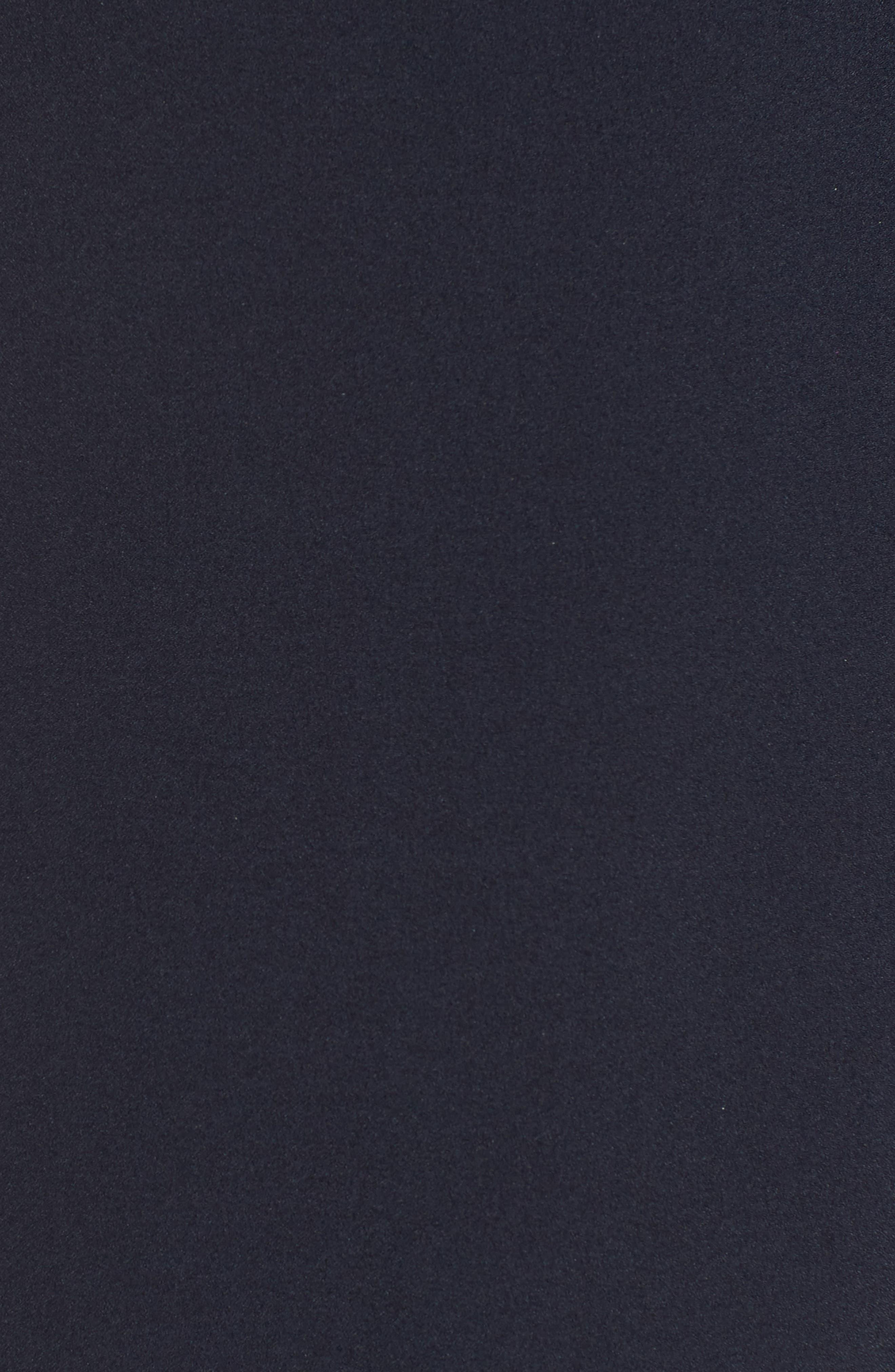 Velvet Trim Shift Dress,                             Alternate thumbnail 6, color,                             NAVY