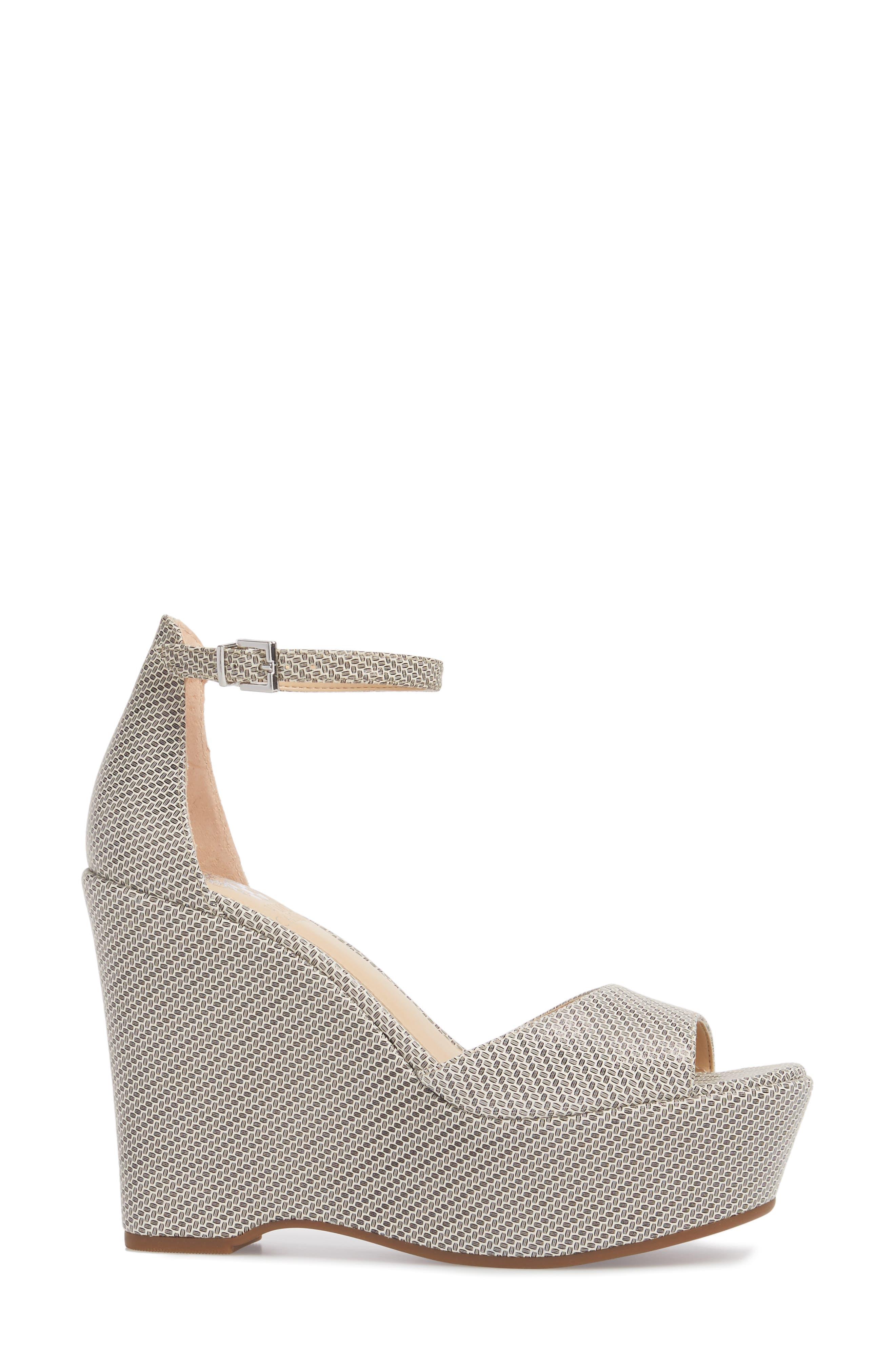 Tatchen Ankle Strap Platform Sandal,                             Alternate thumbnail 3, color,                             002