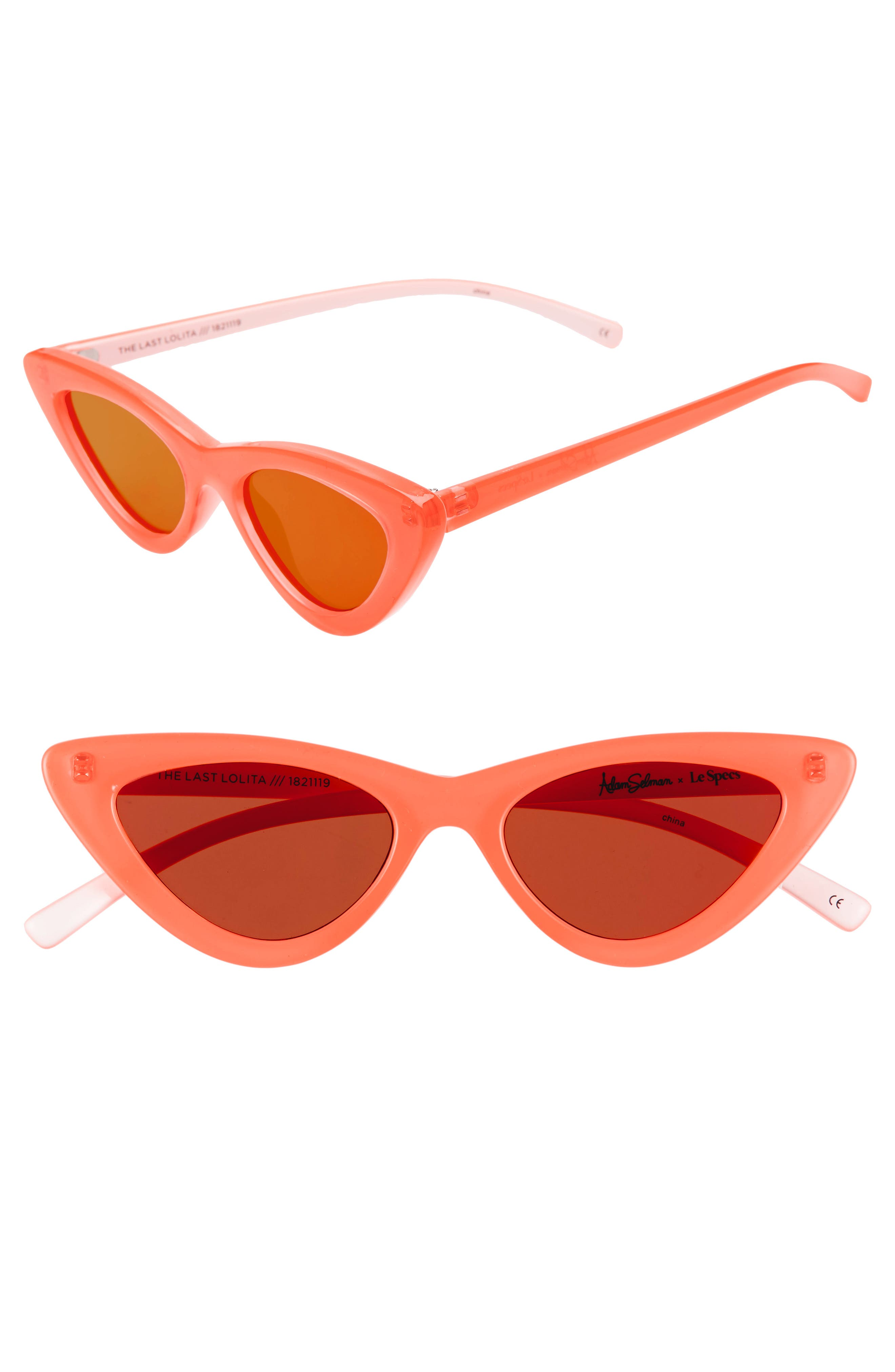 Adam Selman X Le Specs Luxe Lolita 4m Cat Eye Sunglasses - Neon Orange