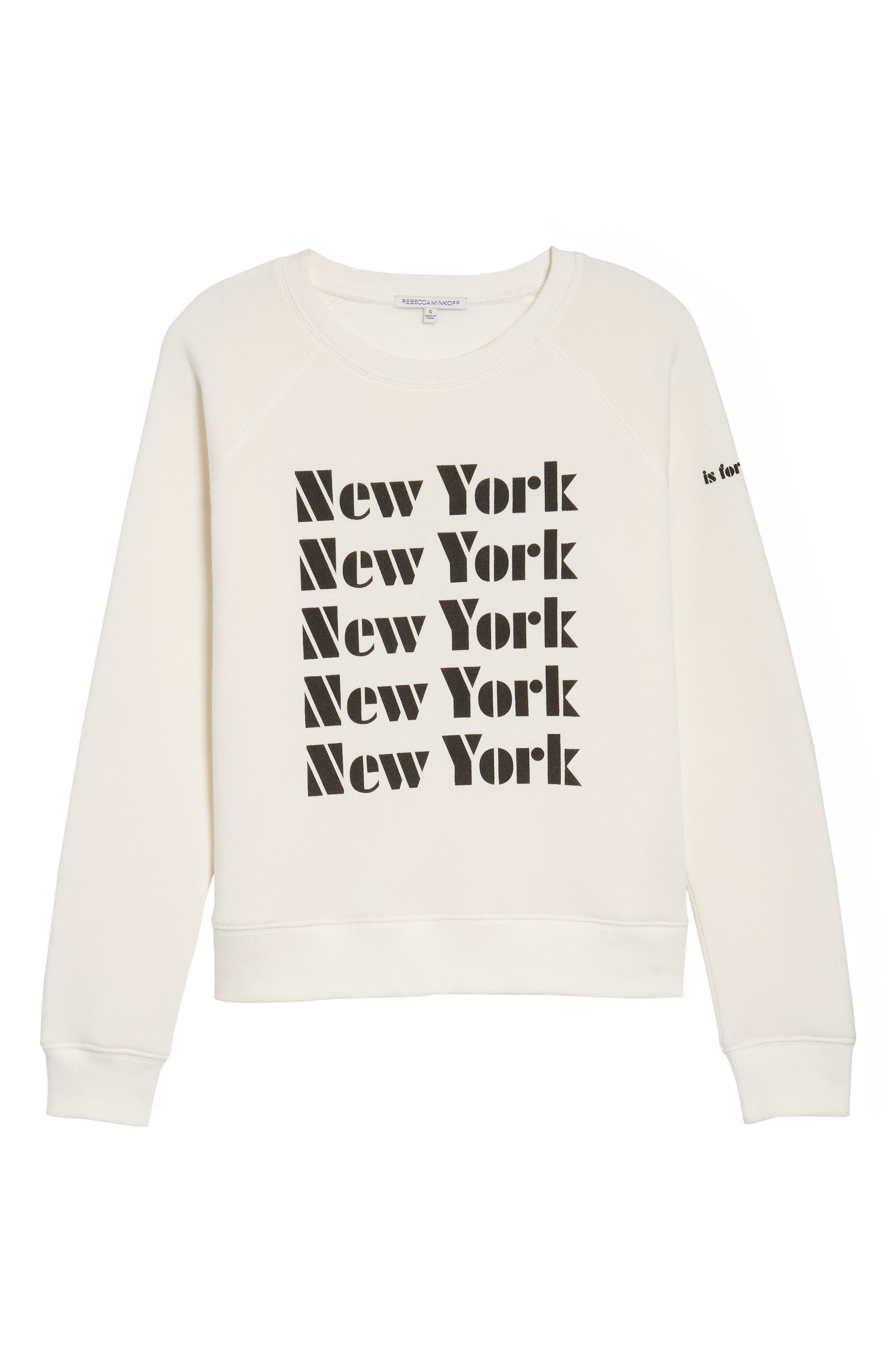 New York Sweatshirt,                             Alternate thumbnail 6, color,                             901