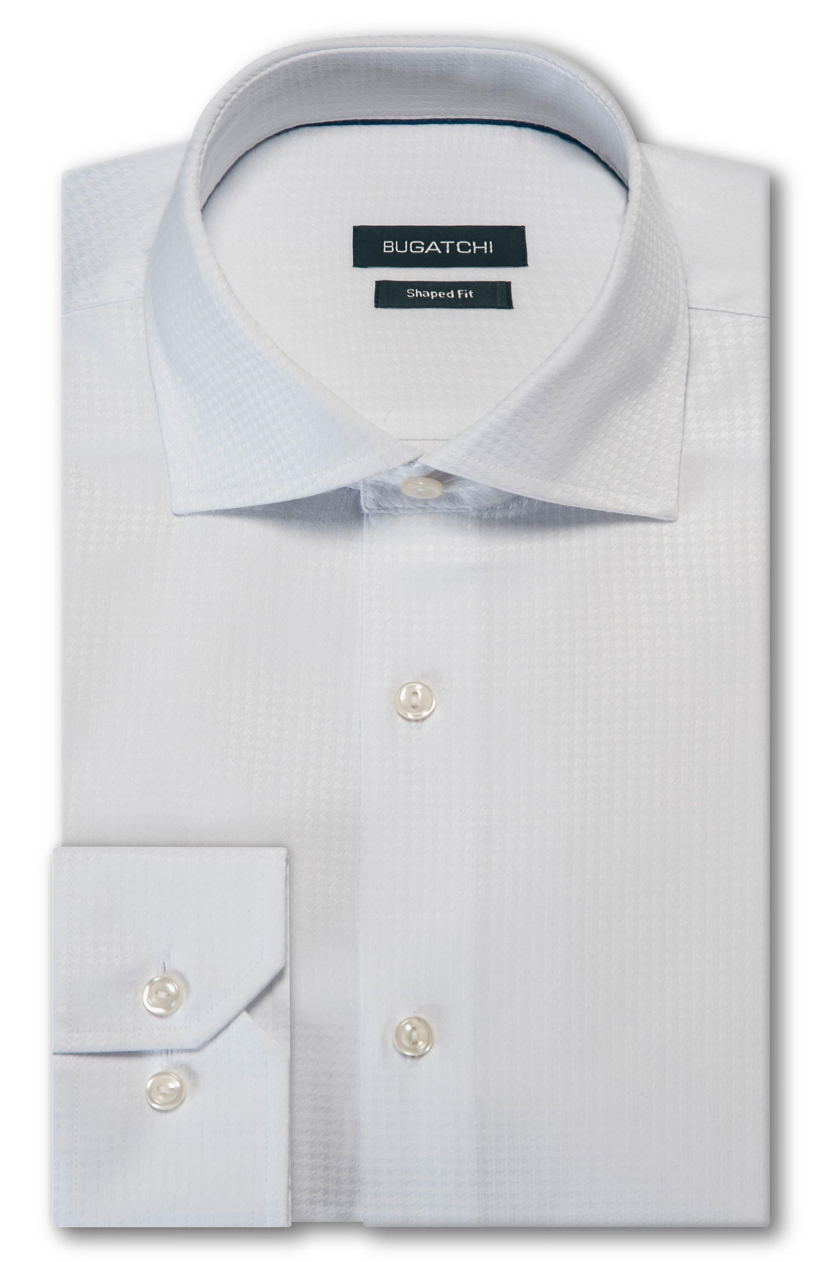Trim Fit Houndstooth Dress Shirt,                             Main thumbnail 1, color,