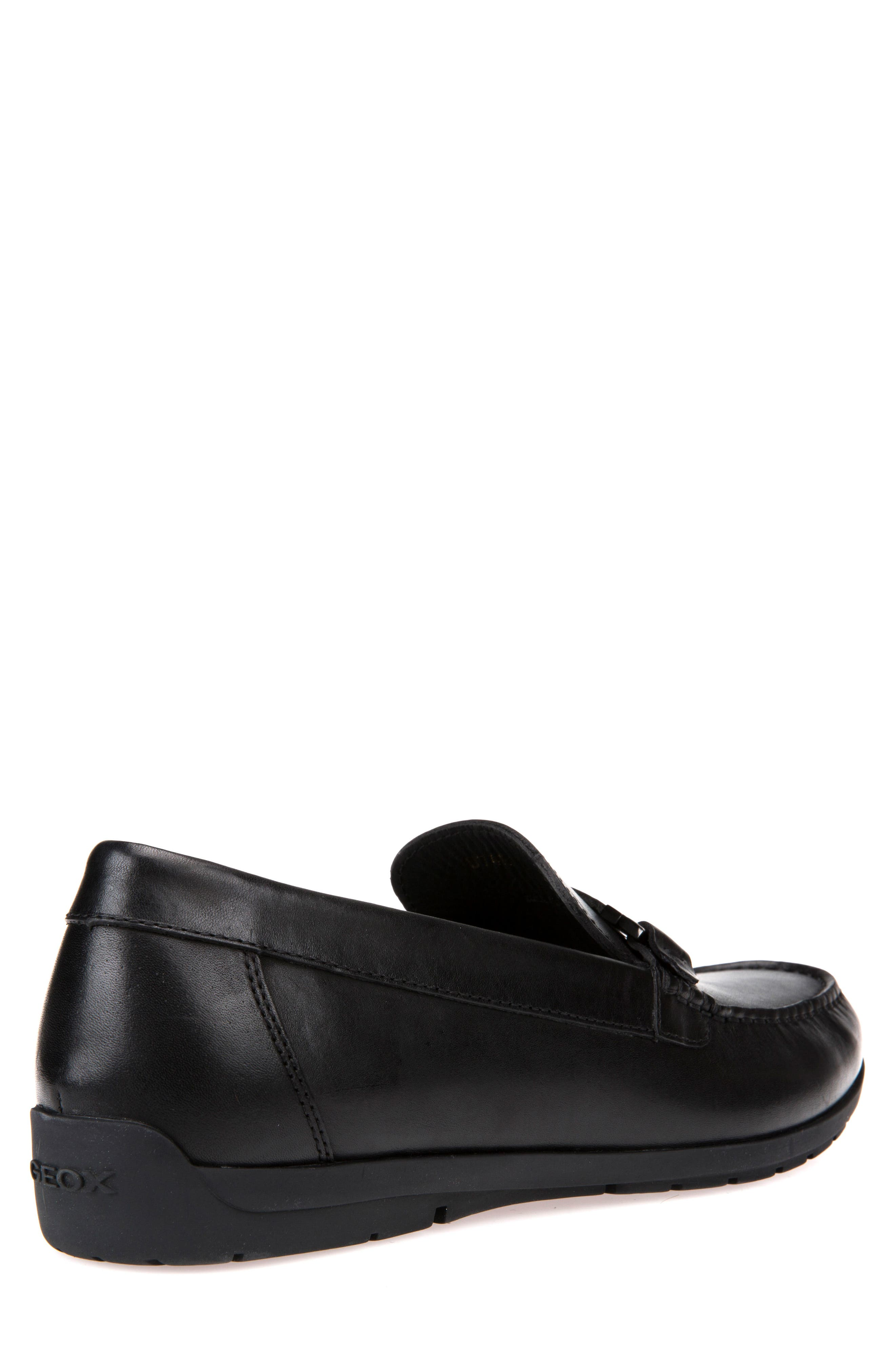 Siron W 1 Moc Toe Loafer,                             Alternate thumbnail 2, color,                             BLACK LEATHER