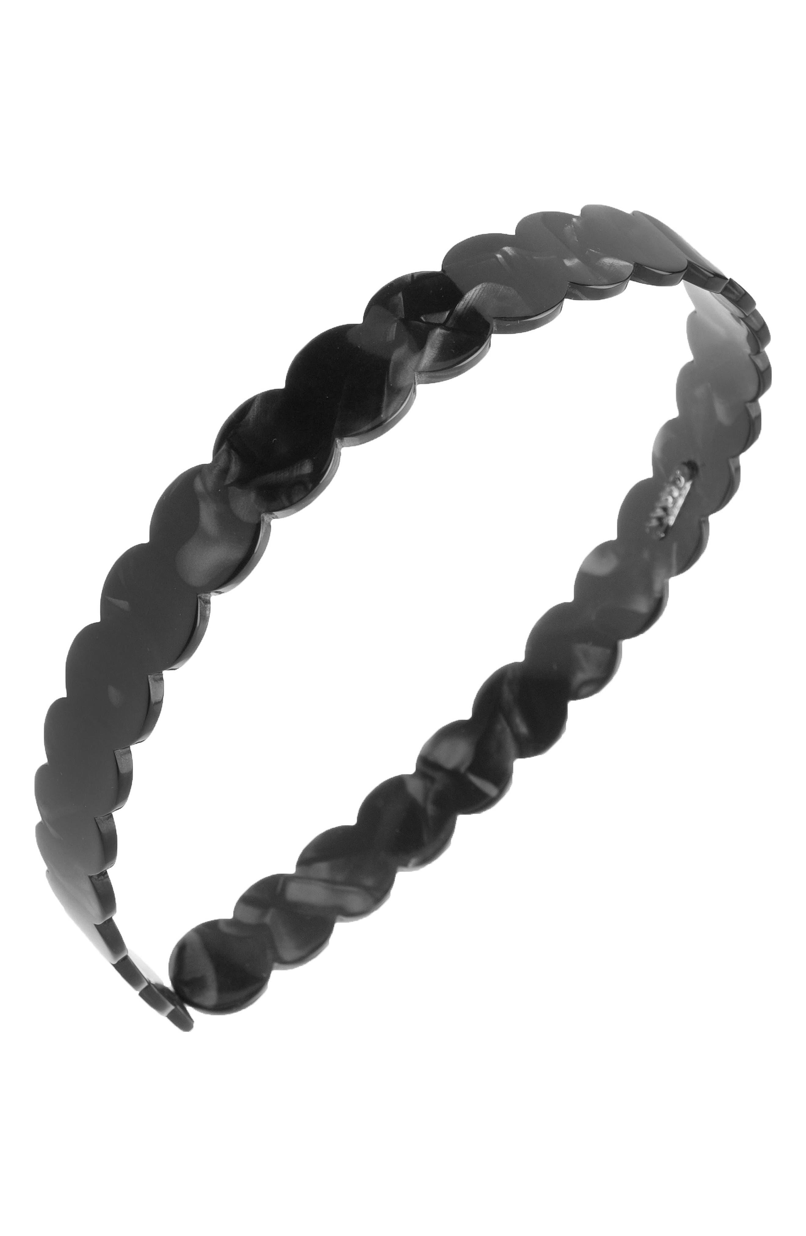 Scallop Headband,                         Main,                         color, NACRO BLACK