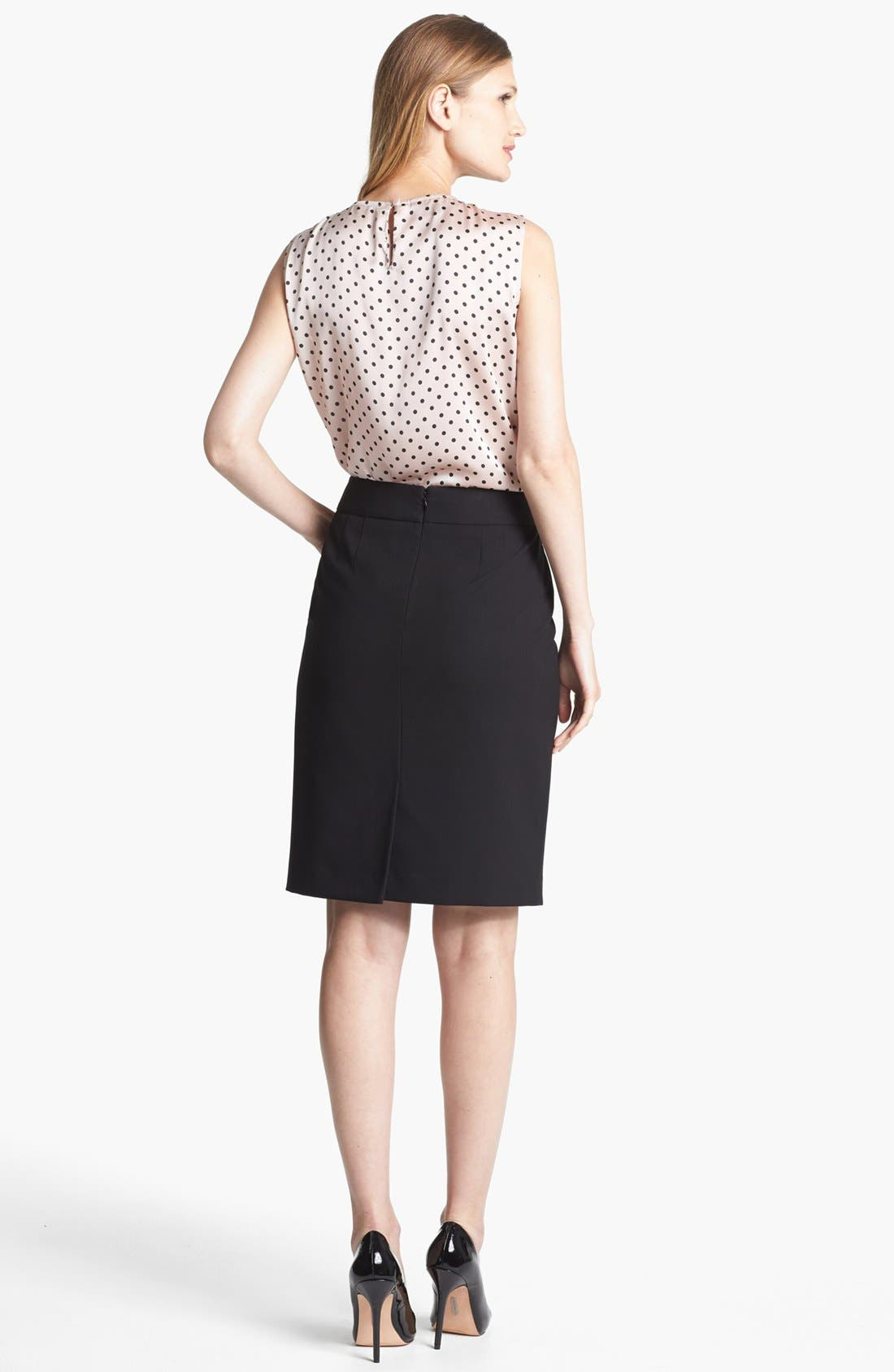 'Lucy - Seasonless Stretch' Pencil Skirt,                             Alternate thumbnail 3, color,                             001