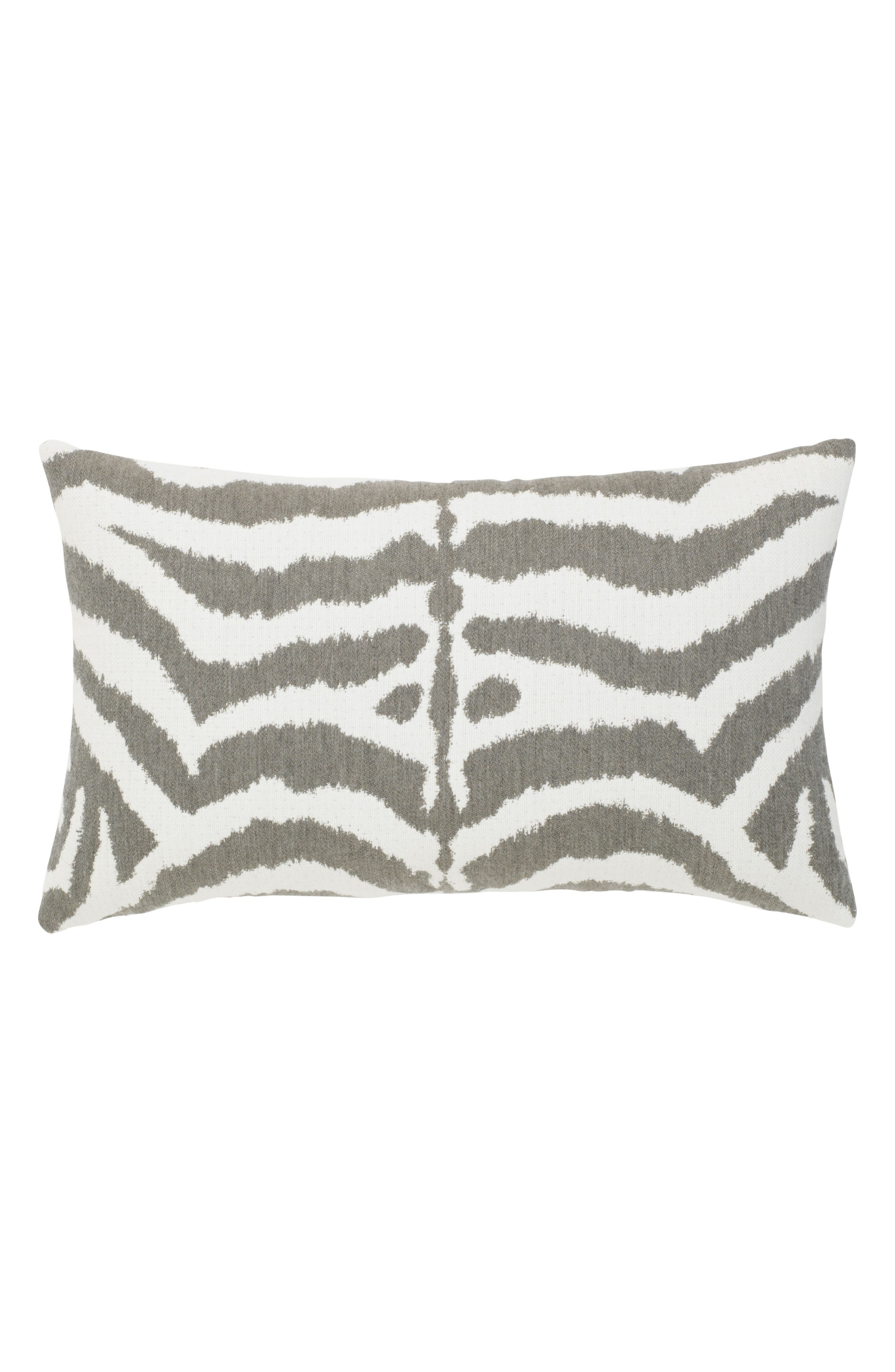 Zebra Gray Indoor/Outdoor Accent Pillow,                         Main,                         color, GRAY WHITE