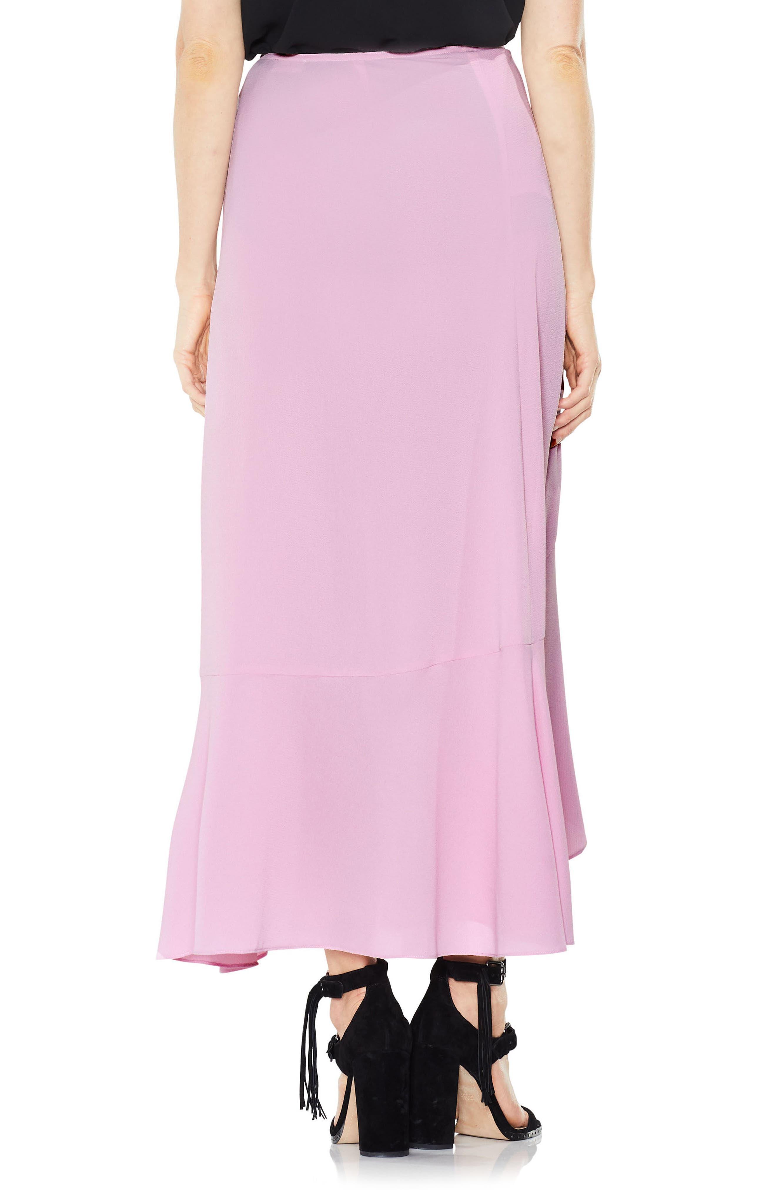 Ruffle Faux Wrap Skirt,                             Alternate thumbnail 4, color,