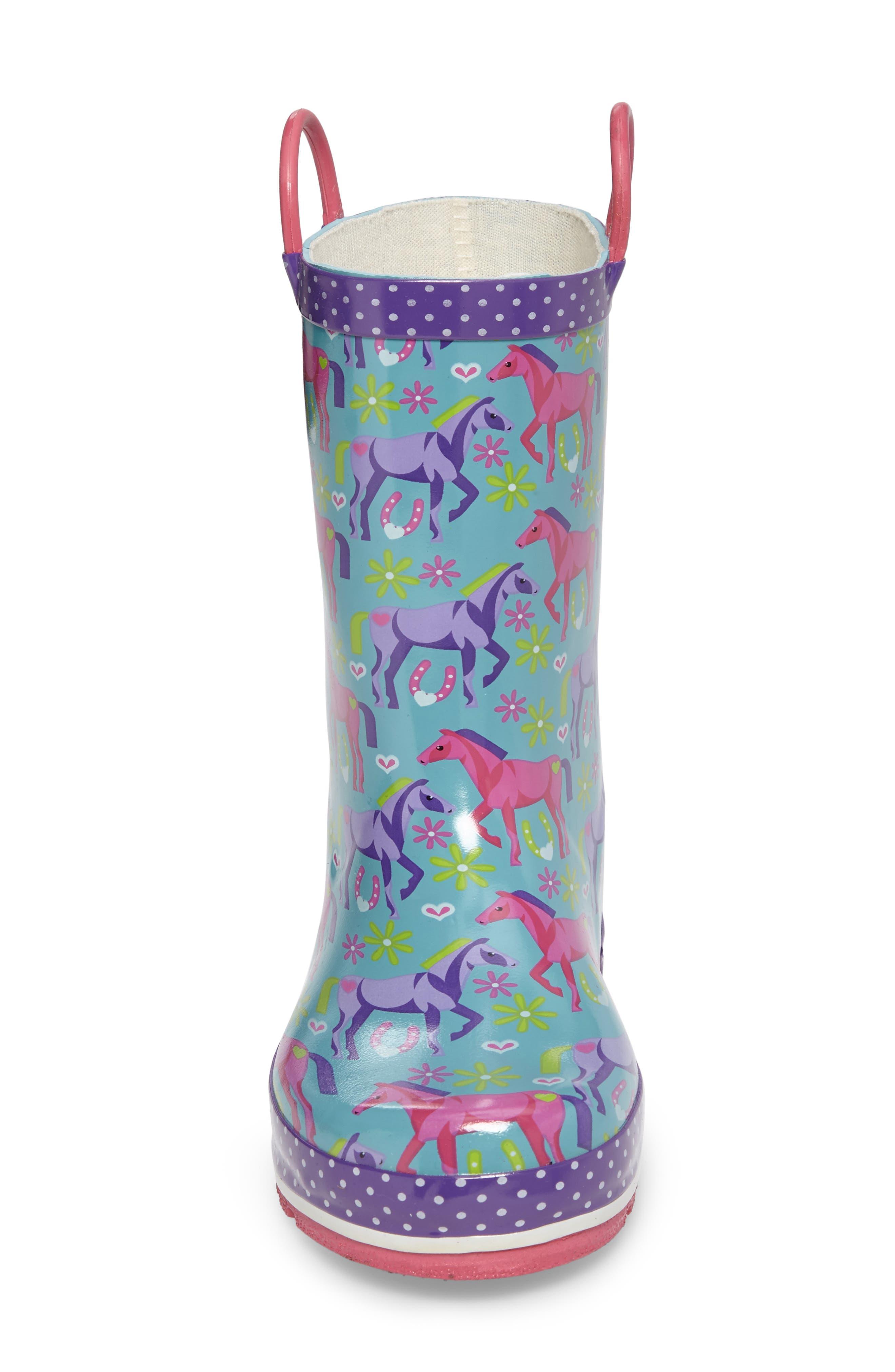 Hannah Horse Rain Boot,                             Alternate thumbnail 4, color,                             442