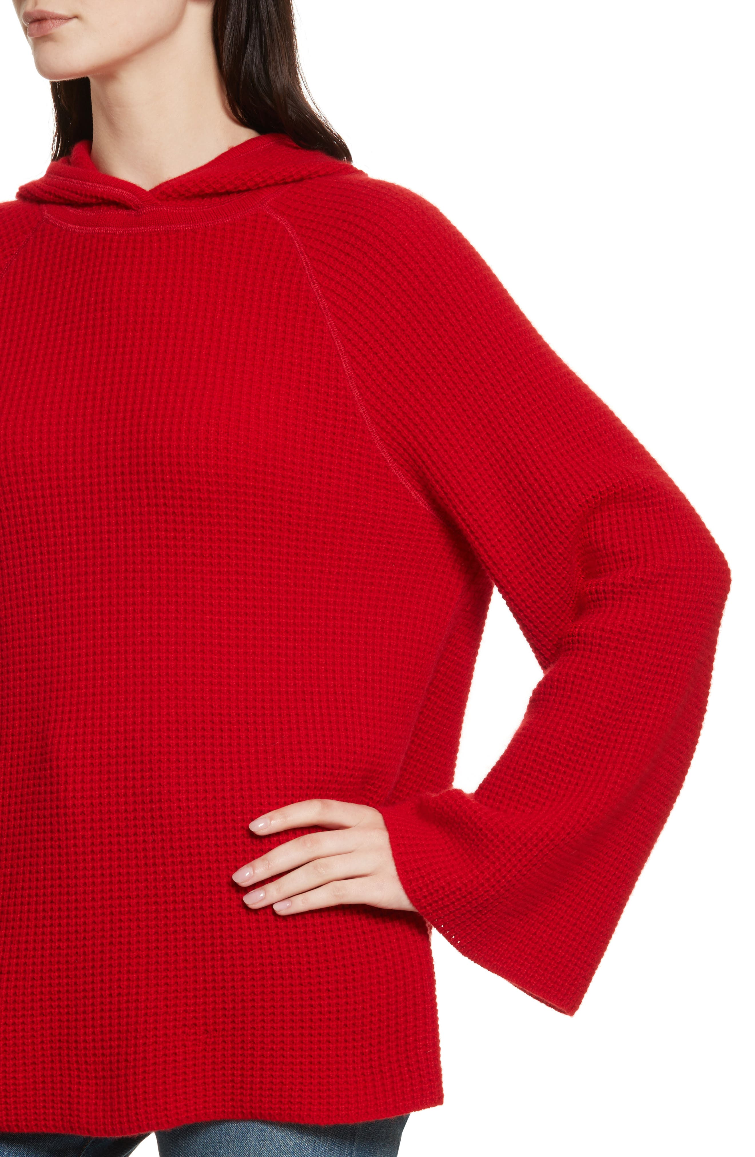 Tristan Thermal Cashmere Hoodie,                             Alternate thumbnail 4, color,                             622