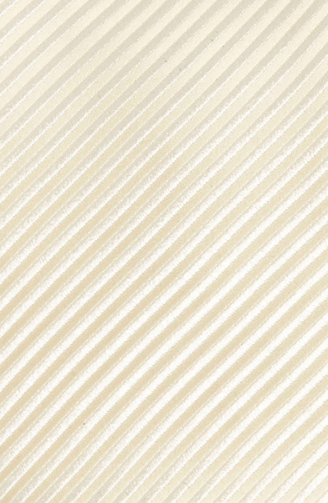 Woven Silk Tie,                             Alternate thumbnail 2, color,                             CHAMPAGNE