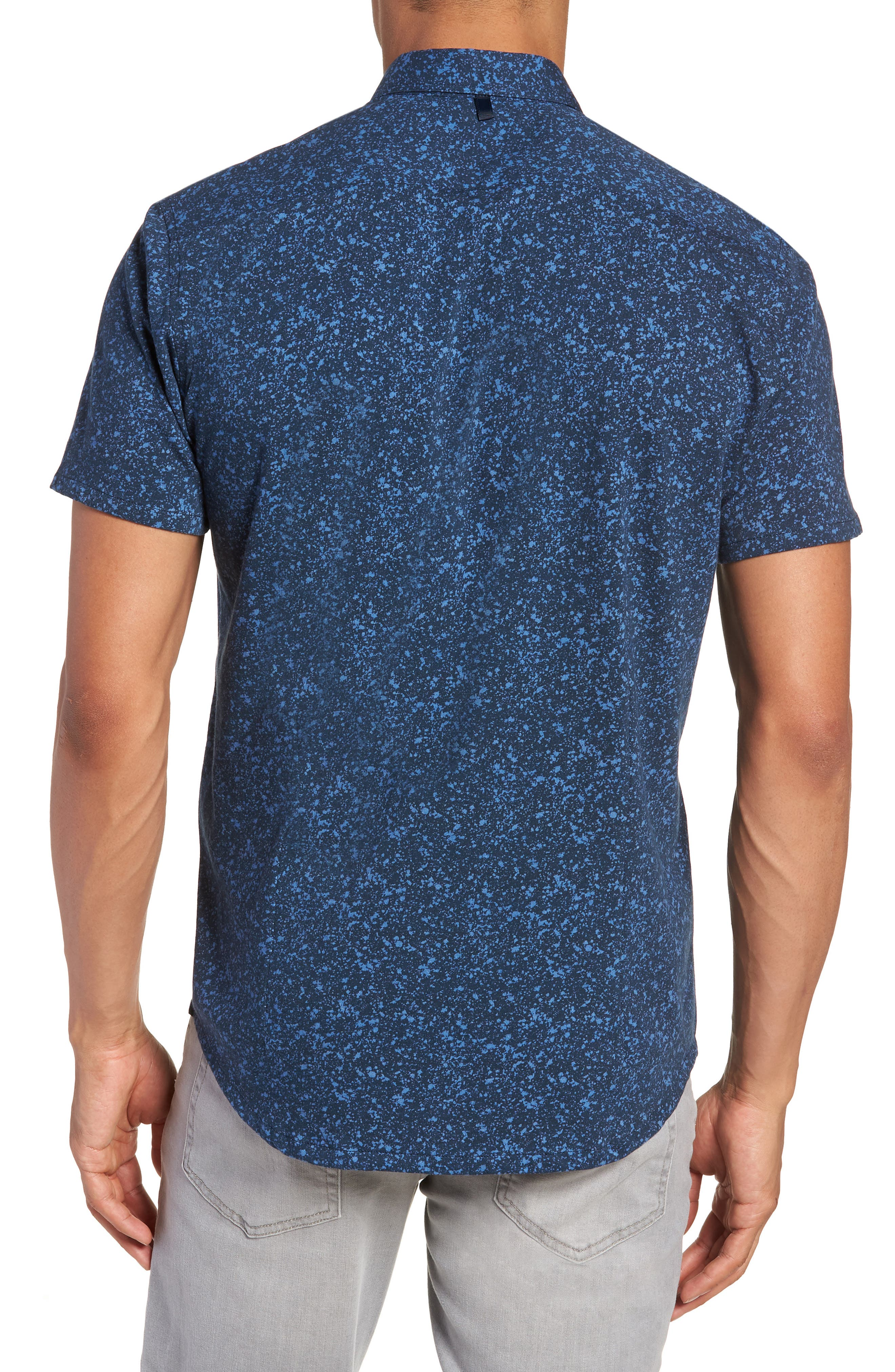 Slim Fit Splatter Sport Shirt,                             Alternate thumbnail 2, color,                             410