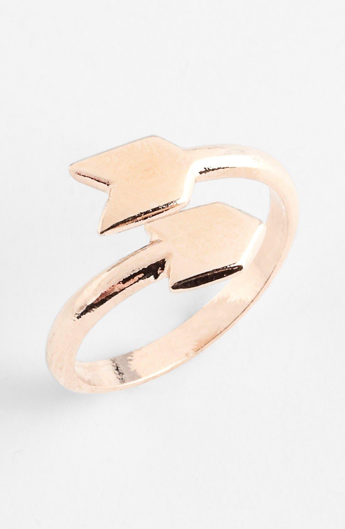 Arrow Midi Ring,                             Main thumbnail 1, color,                             220