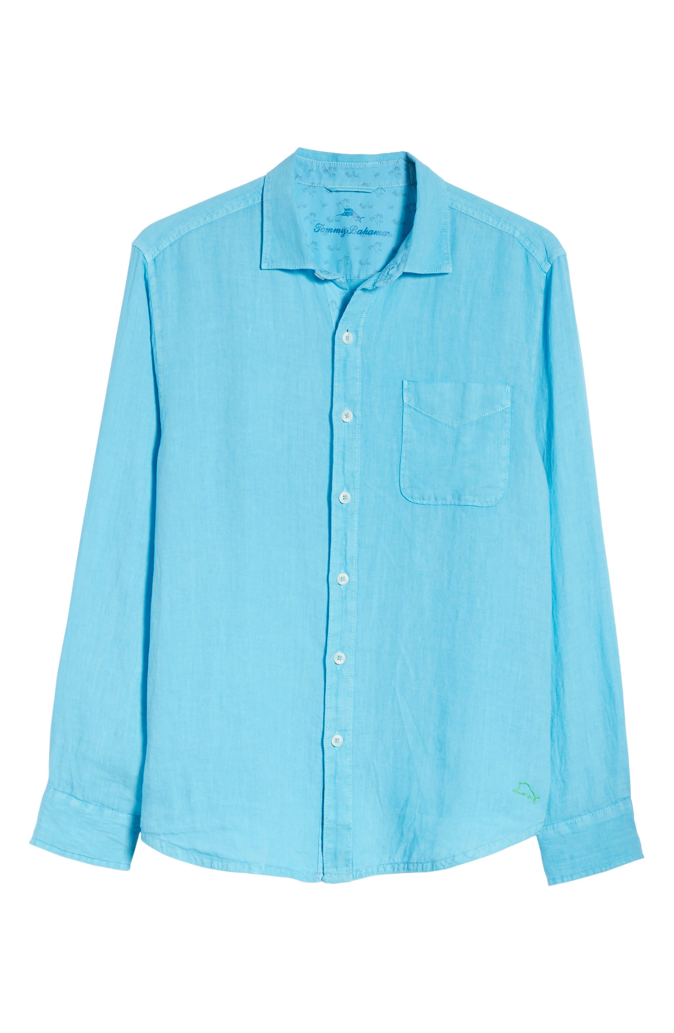 Seaspray Breezer Linen Shirt,                             Alternate thumbnail 23, color,
