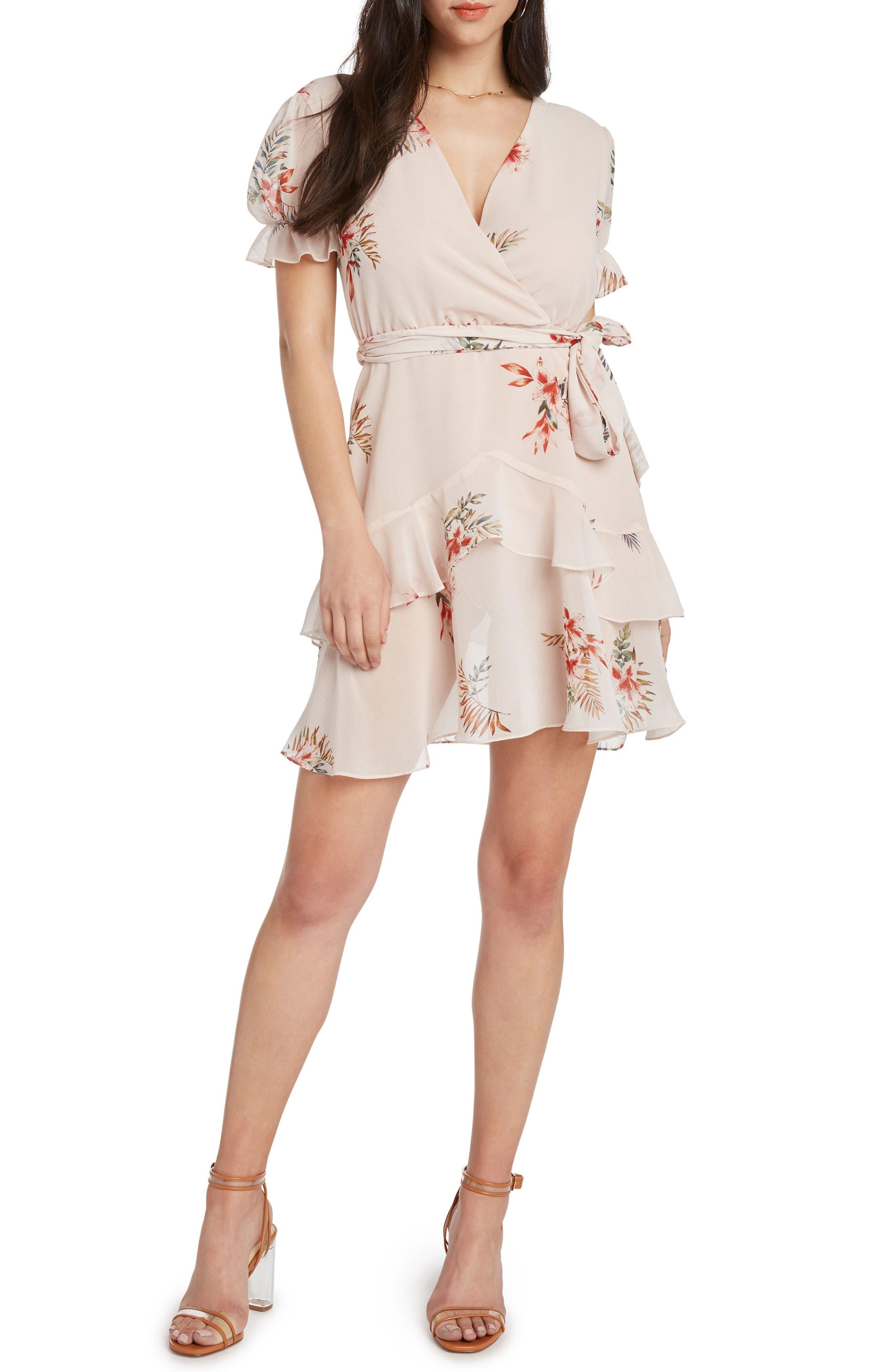 Layered Ruffle Minidress,                         Main,                         color, BALLET