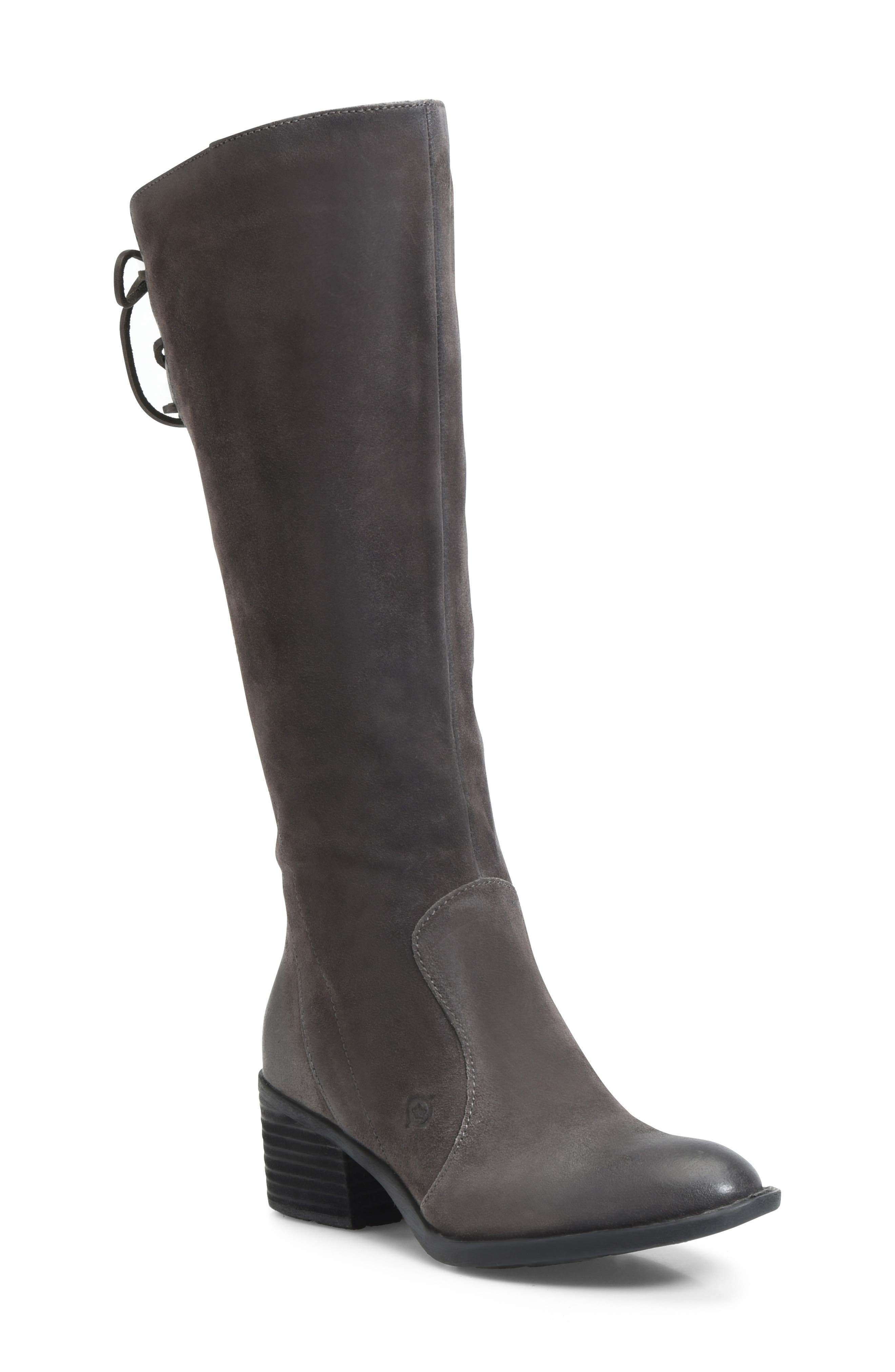 B?rn Felicia Knee High Boot, Regular Calf- Grey