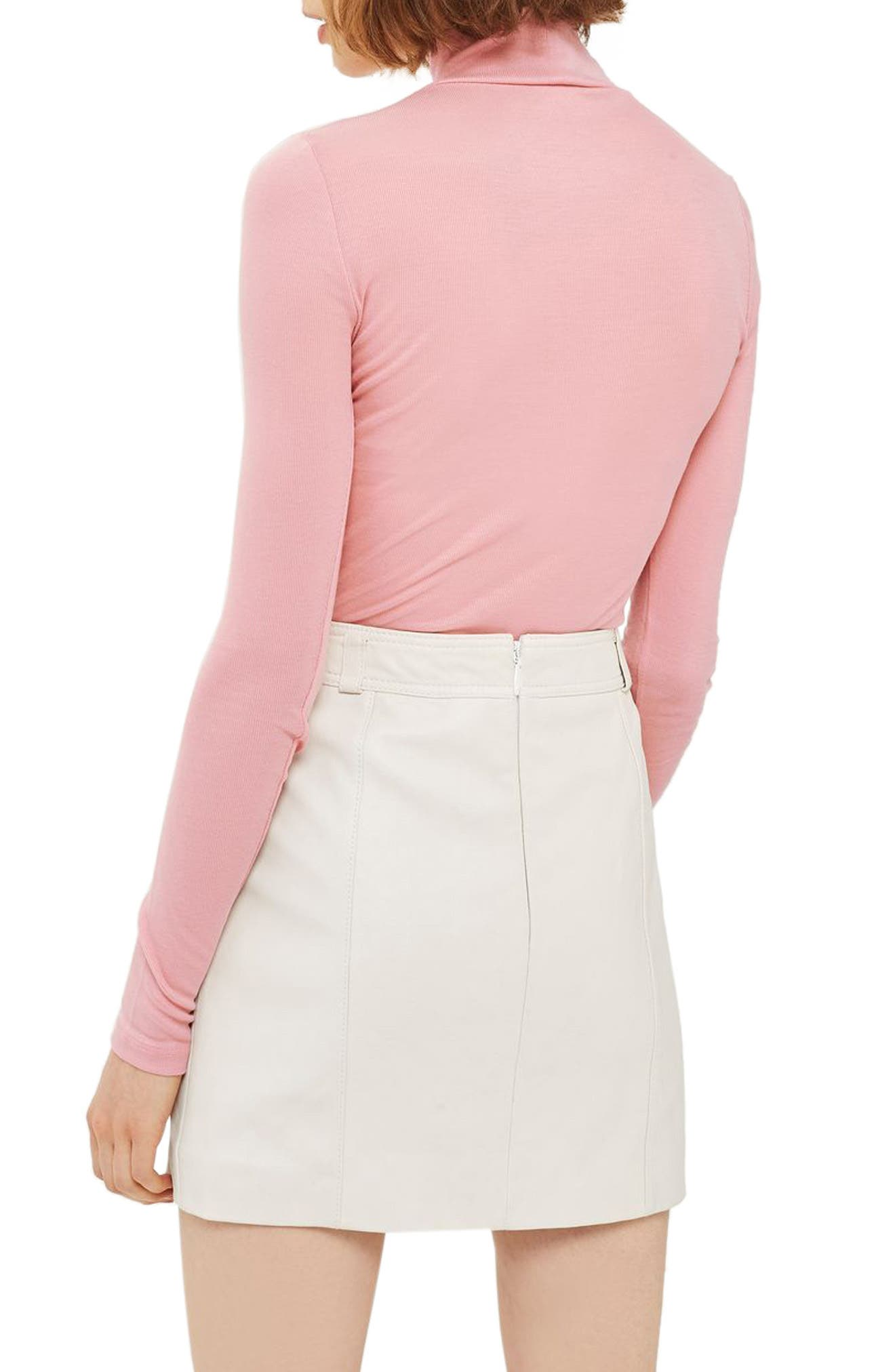 Ribbed Turtleneck Top,                             Alternate thumbnail 11, color,