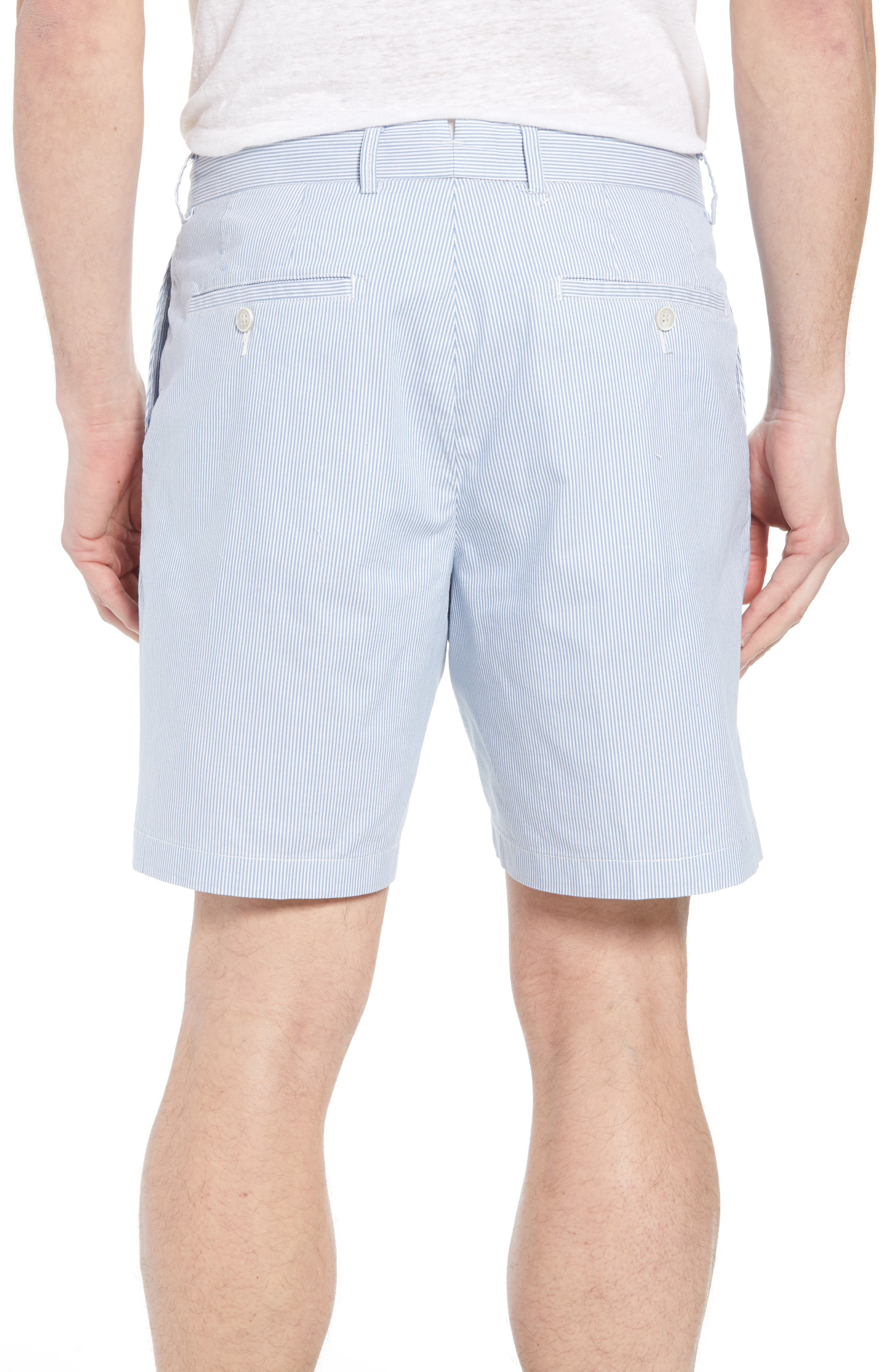 Summer Pinstripe Flat Front Shorts,                             Alternate thumbnail 2, color,                             439