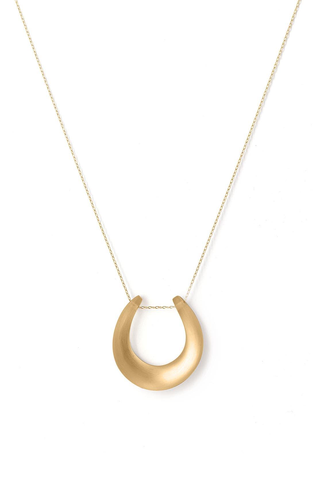 Small Horseshoe Necklace,                             Main thumbnail 6, color,