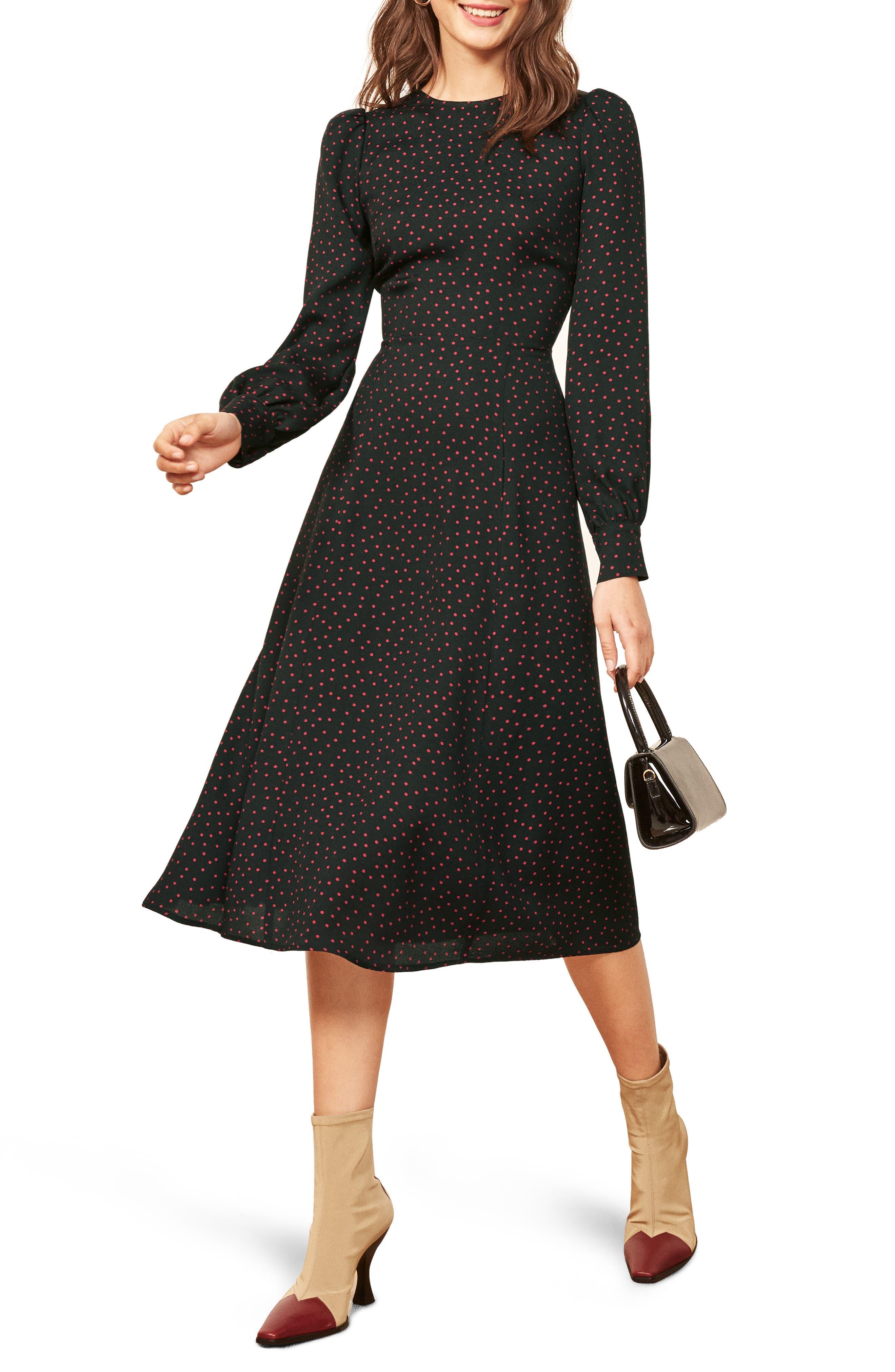 Josephine Midi Dress,                             Main thumbnail 1, color,                             NATALIA