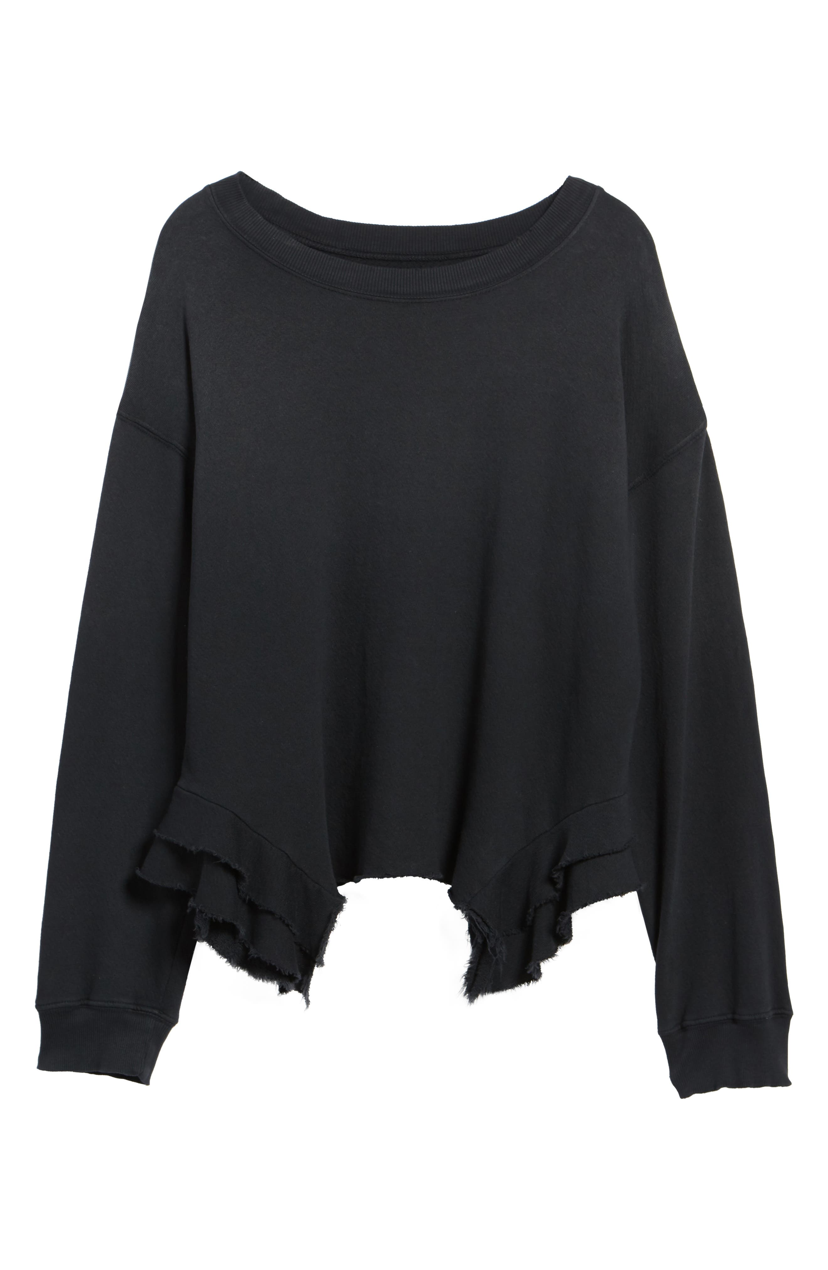 The Slouchy Ruffle Sweatshirt,                             Alternate thumbnail 6, color,                             006