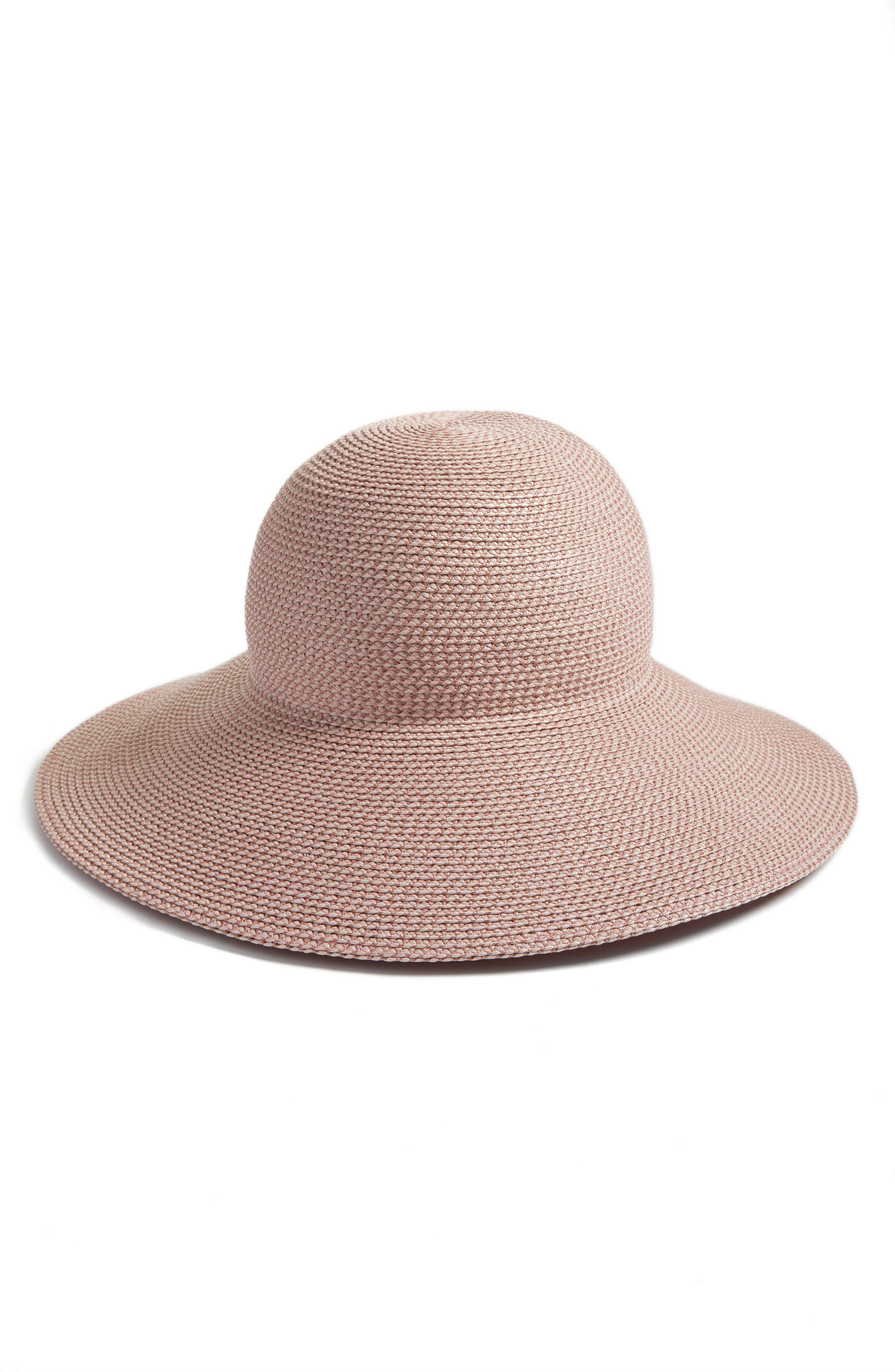 'Hampton' Straw Sun Hat,                         Main,                         color, BLUSH