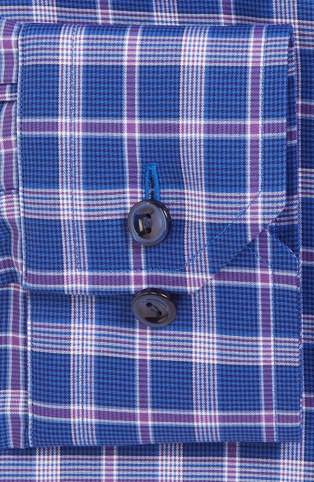 ETON,                             Contemporary Fit Plaid Dress Shirt,                             Alternate thumbnail 2, color,                             500