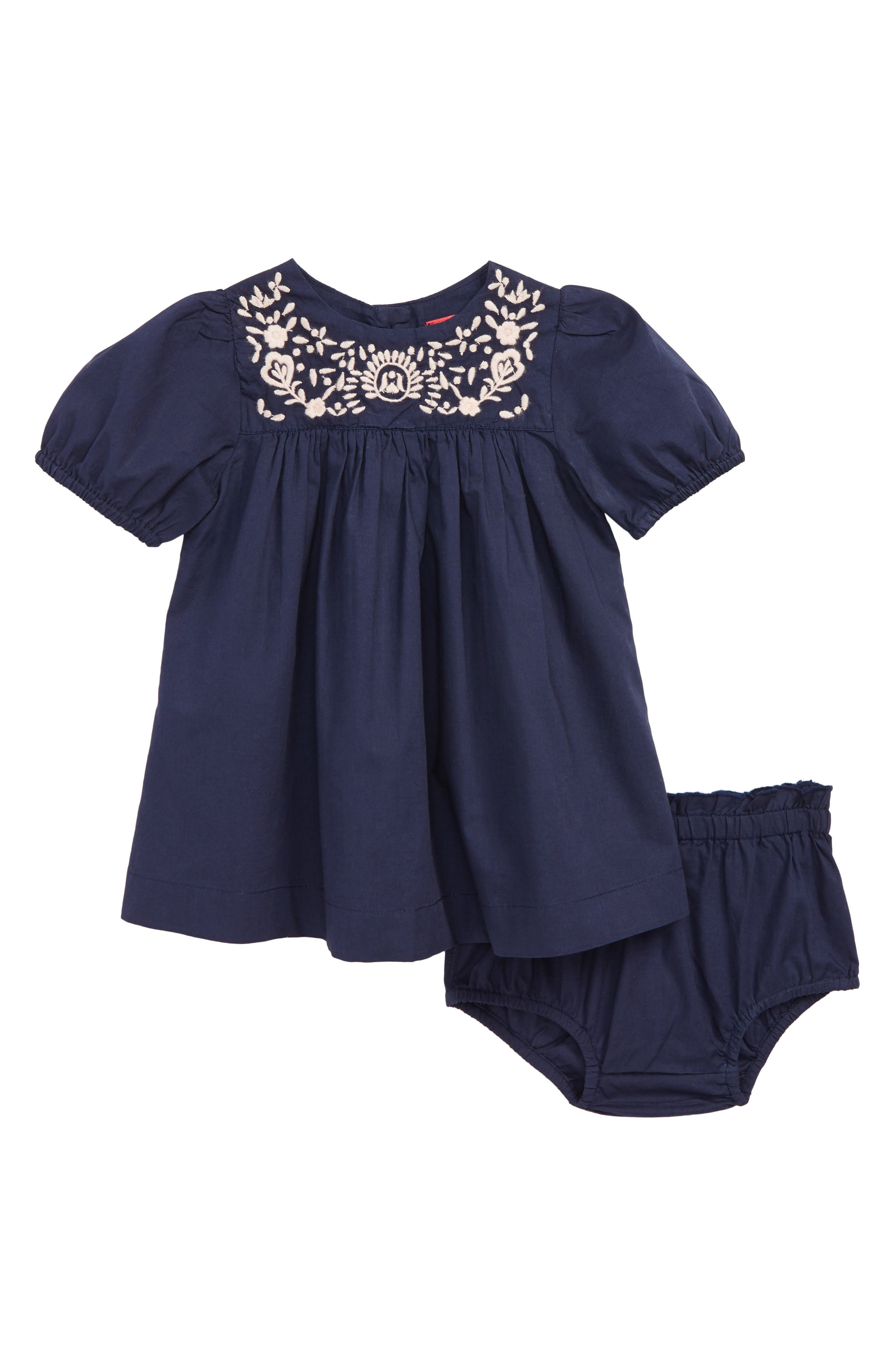 Embroidered Dress,                             Main thumbnail 1, color,                             NAVY PEACOAT