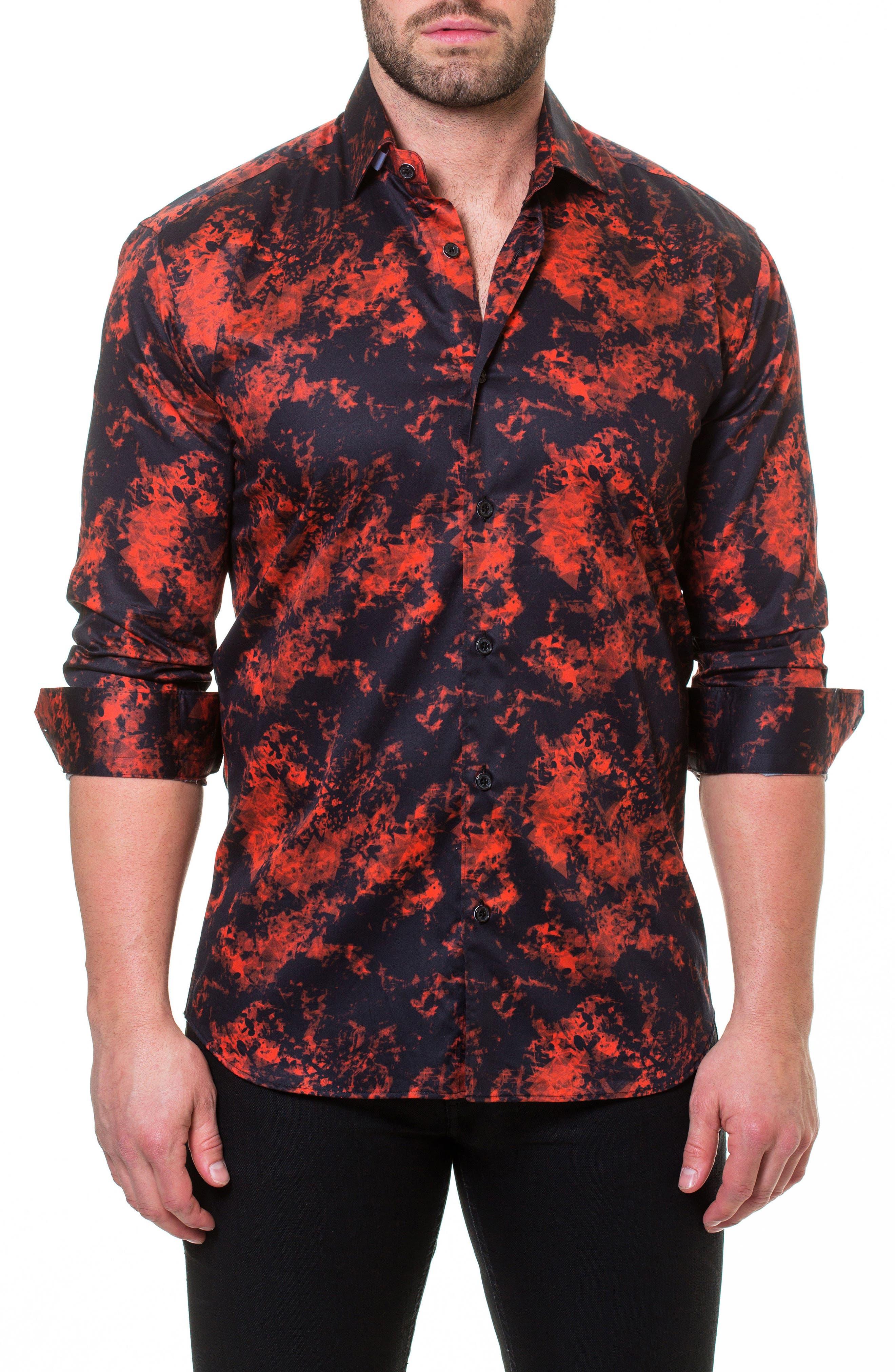 Luxor Fire Slim Fit Sport Shirt,                             Main thumbnail 1, color,